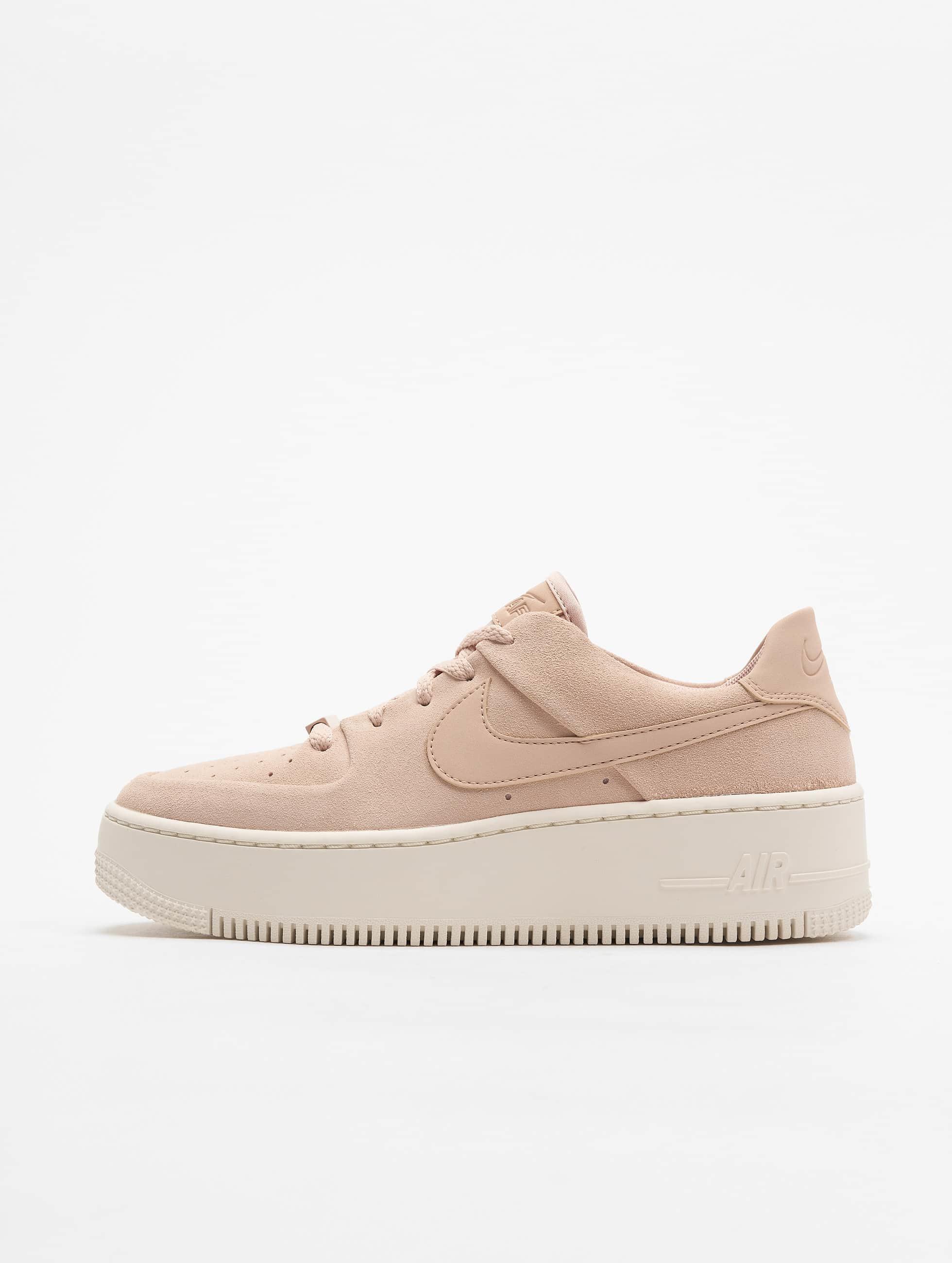 buy popular ac487 96ecb Nike   Air Force 1 Sage beige Femme Baskets 592171