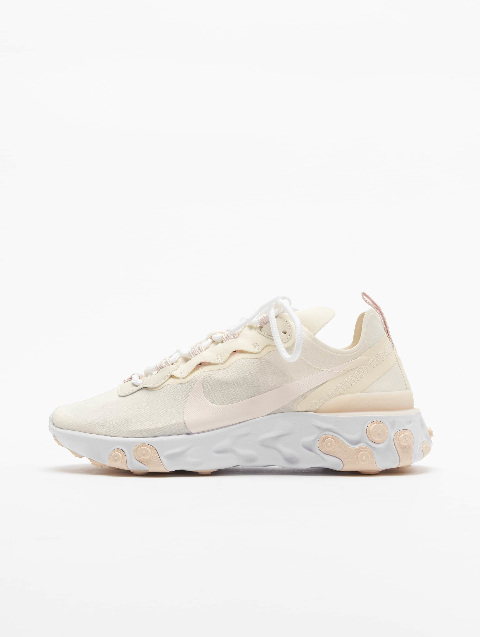 Nike React Element 55 Sneakers Pale IvoryLight Soft PinkWhite