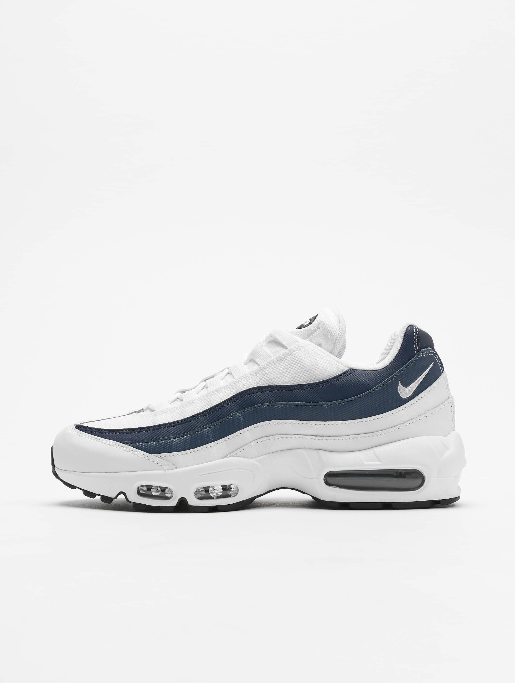 haute couture 89939 5b57f Nike Air Max 95 Essential Sneakers White/White/Midnight Navy/Monsoon Blue