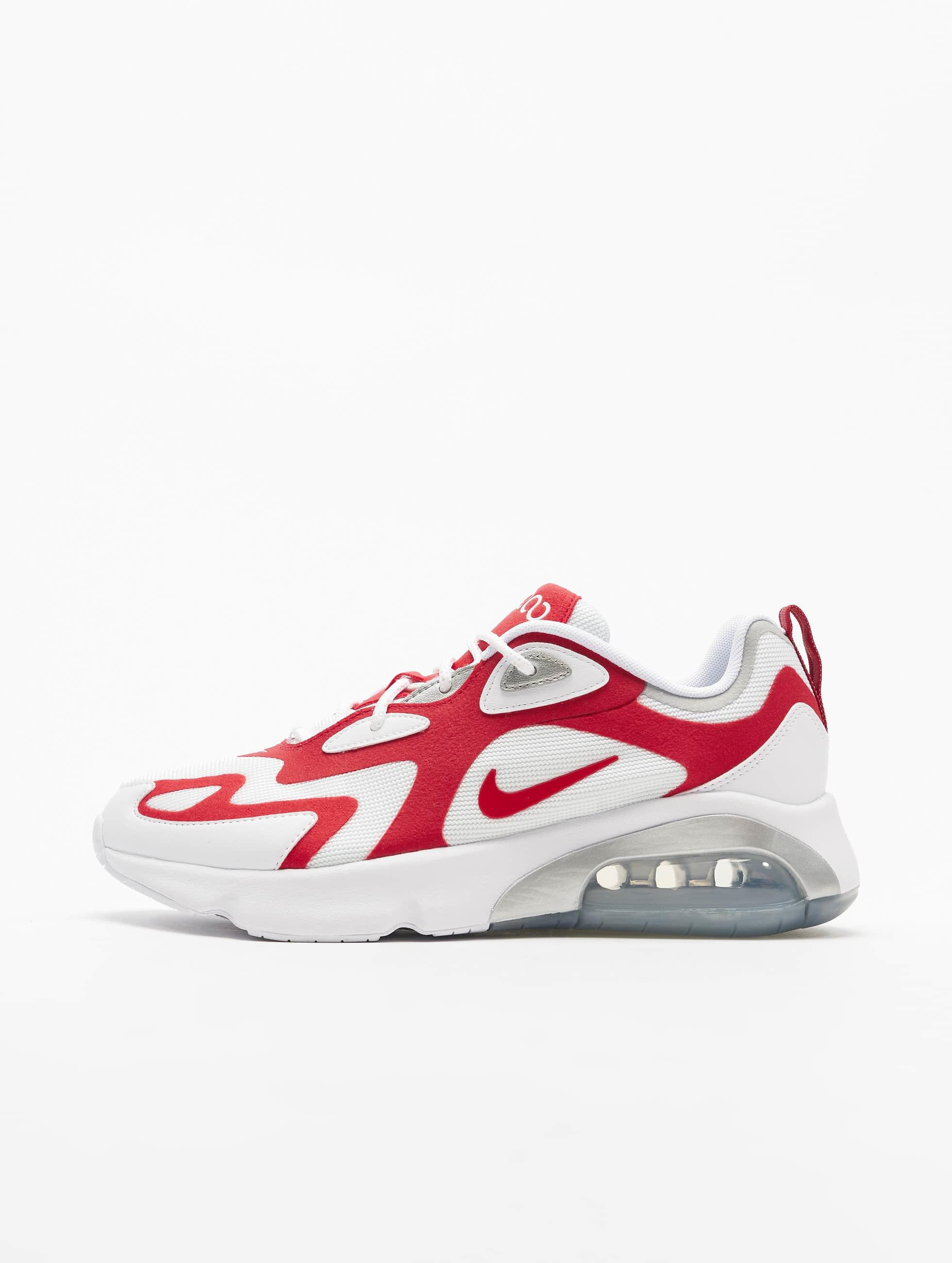 Nike Air Max 200 Sneakers White/University Red/Metallic Silvern