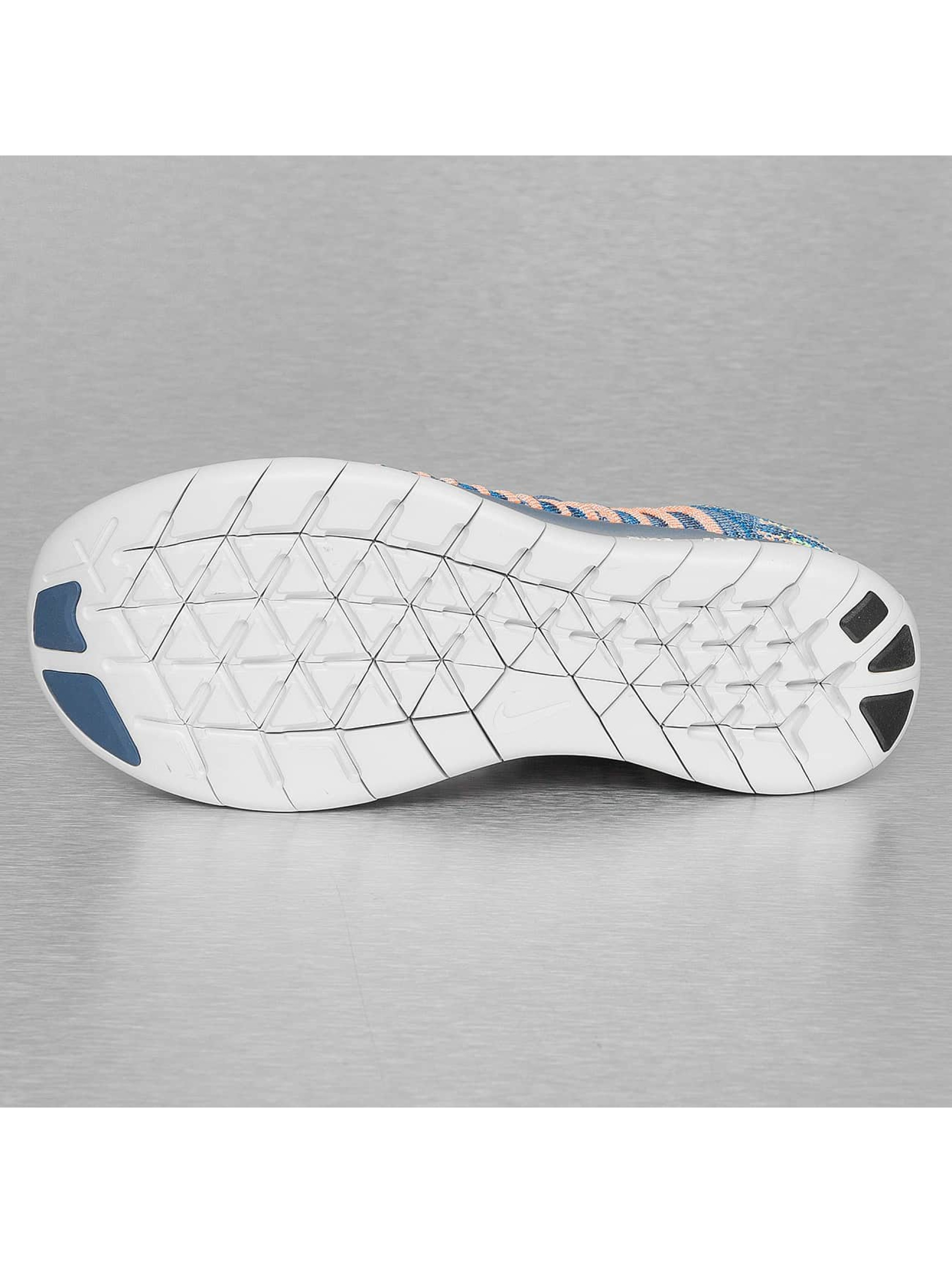 Nike Baskets Free RN Flyknit (GS) bleu