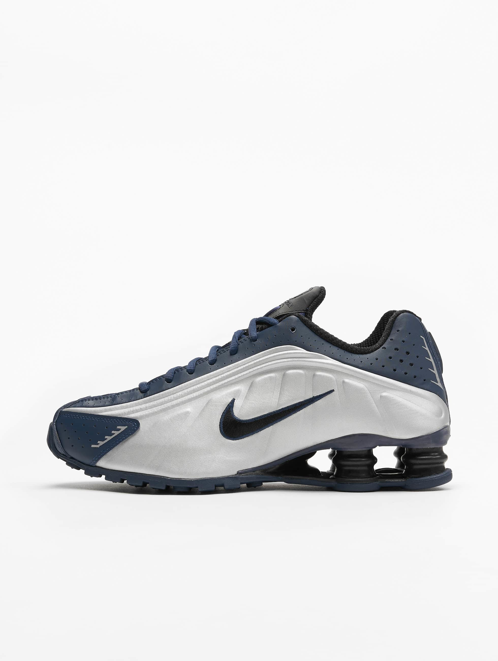size 40 promo codes outlet store Nike Shox R4 Sneakers Midnight Navy/Black/Metallic Silvern