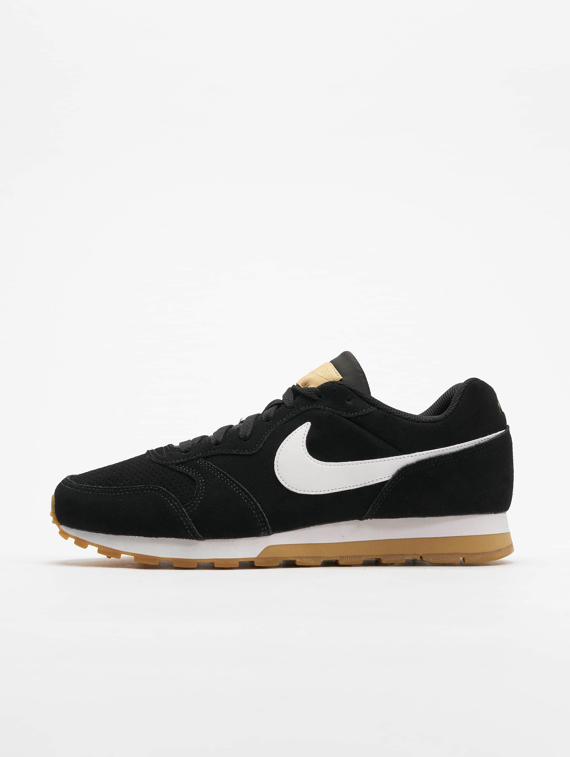 Suede Sneakers Mid Blackwhiteclub goldengum Brown Nike Runner 2 Light yvm0ON8nw