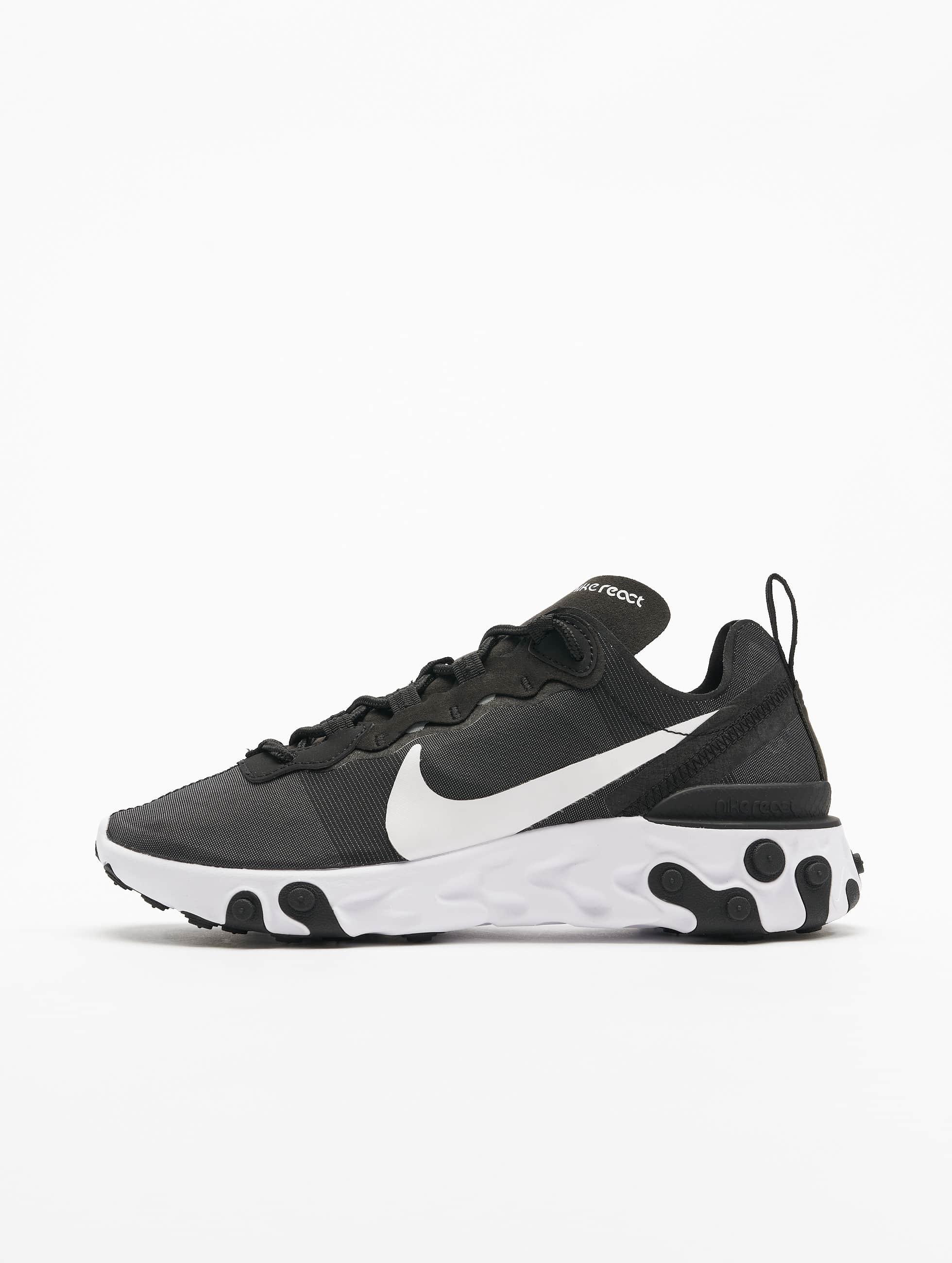 Nike React Element 55 Sneakers Black/White