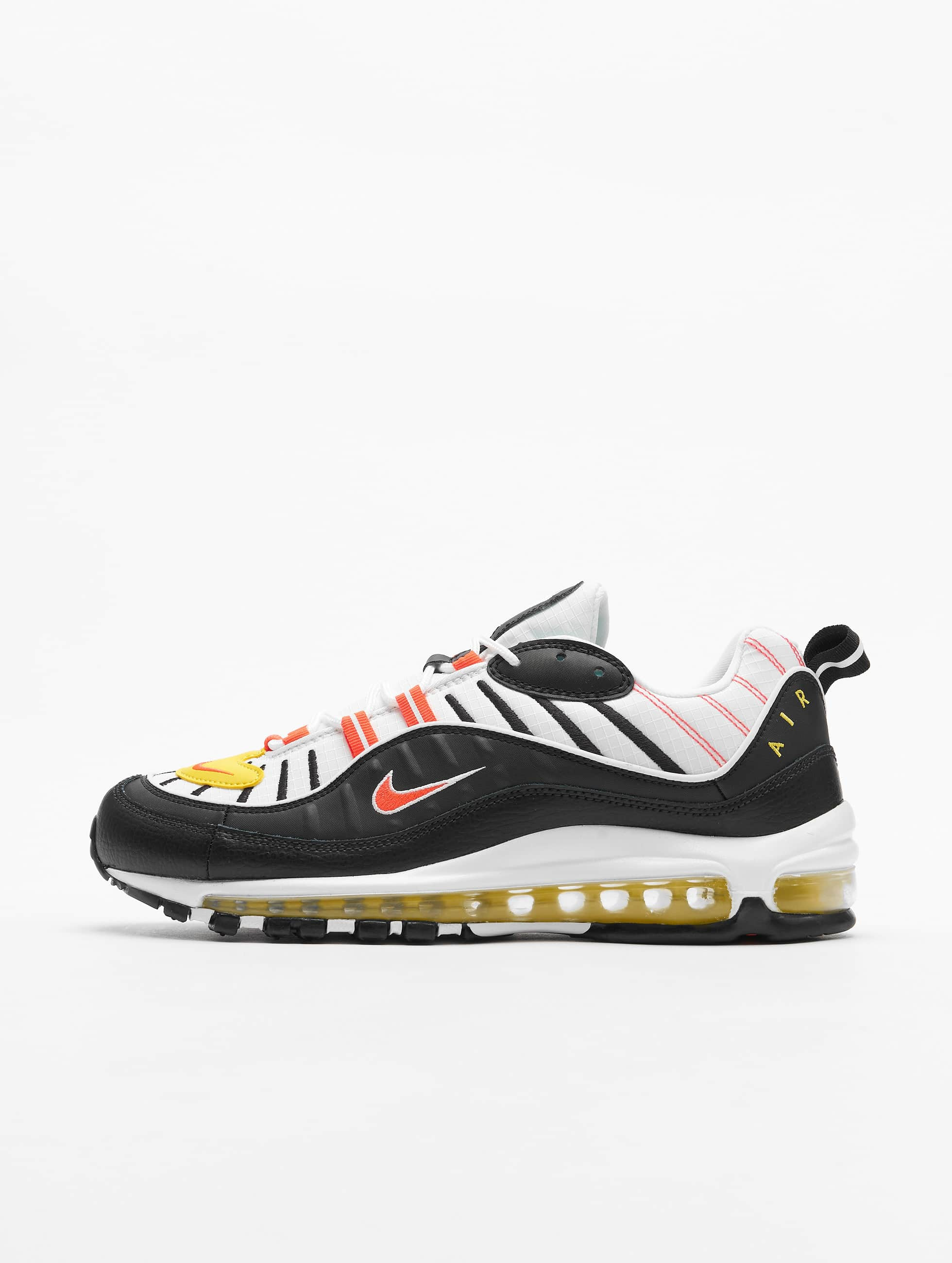 Nike Air Max 98 Sneakers BlackBright CrimsonWhiteChrome Yellow