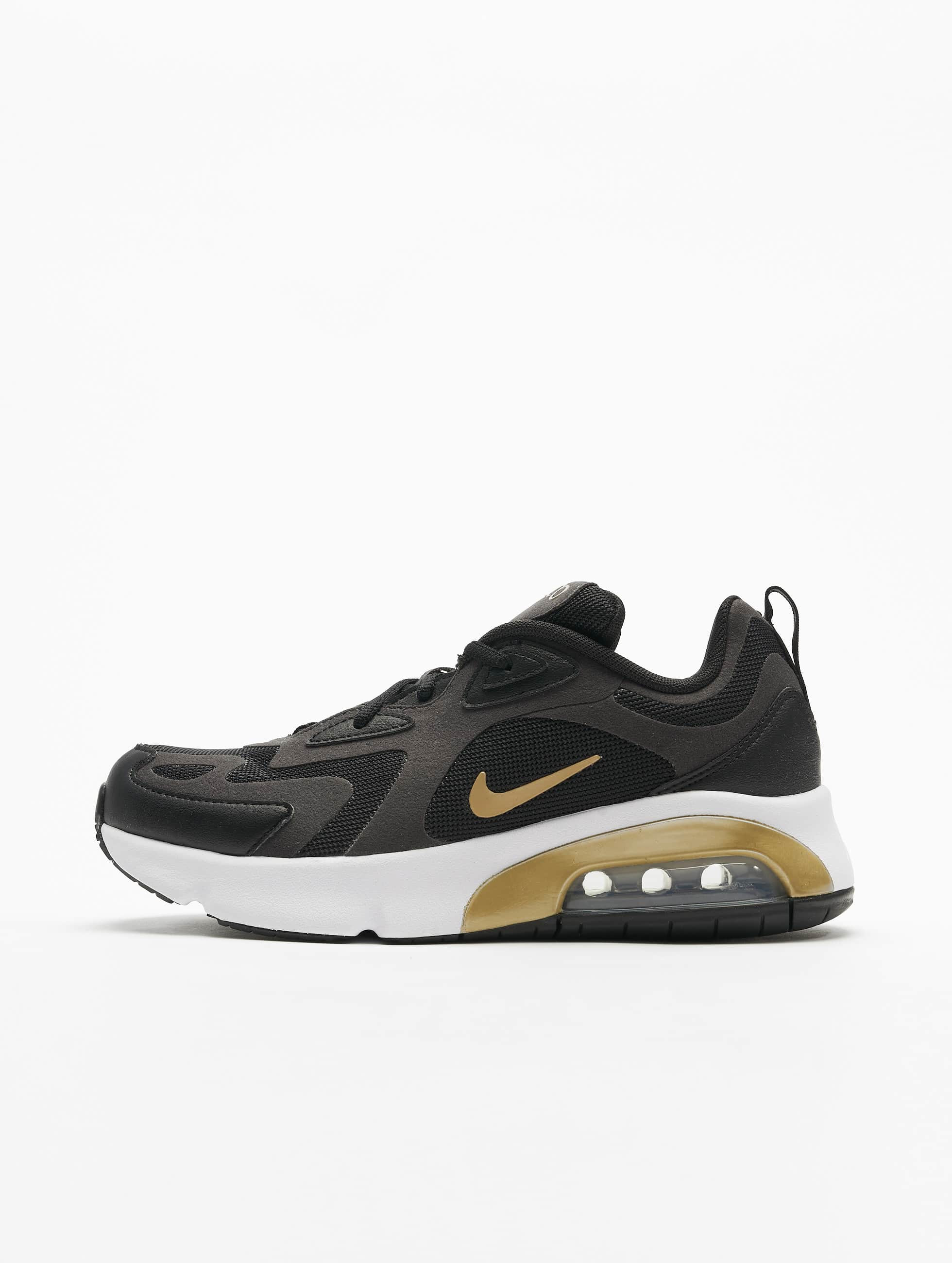 Nike Air Max 200 (GS) Sneakers BlackMetallic GoldenAnthraciteWhite