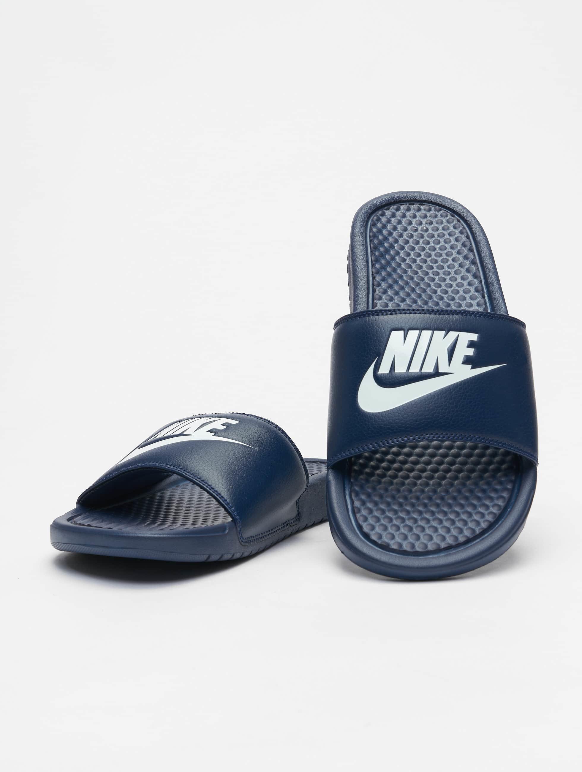 nike benassi jdi bleu homme claquettes sandales 343576. Black Bedroom Furniture Sets. Home Design Ideas