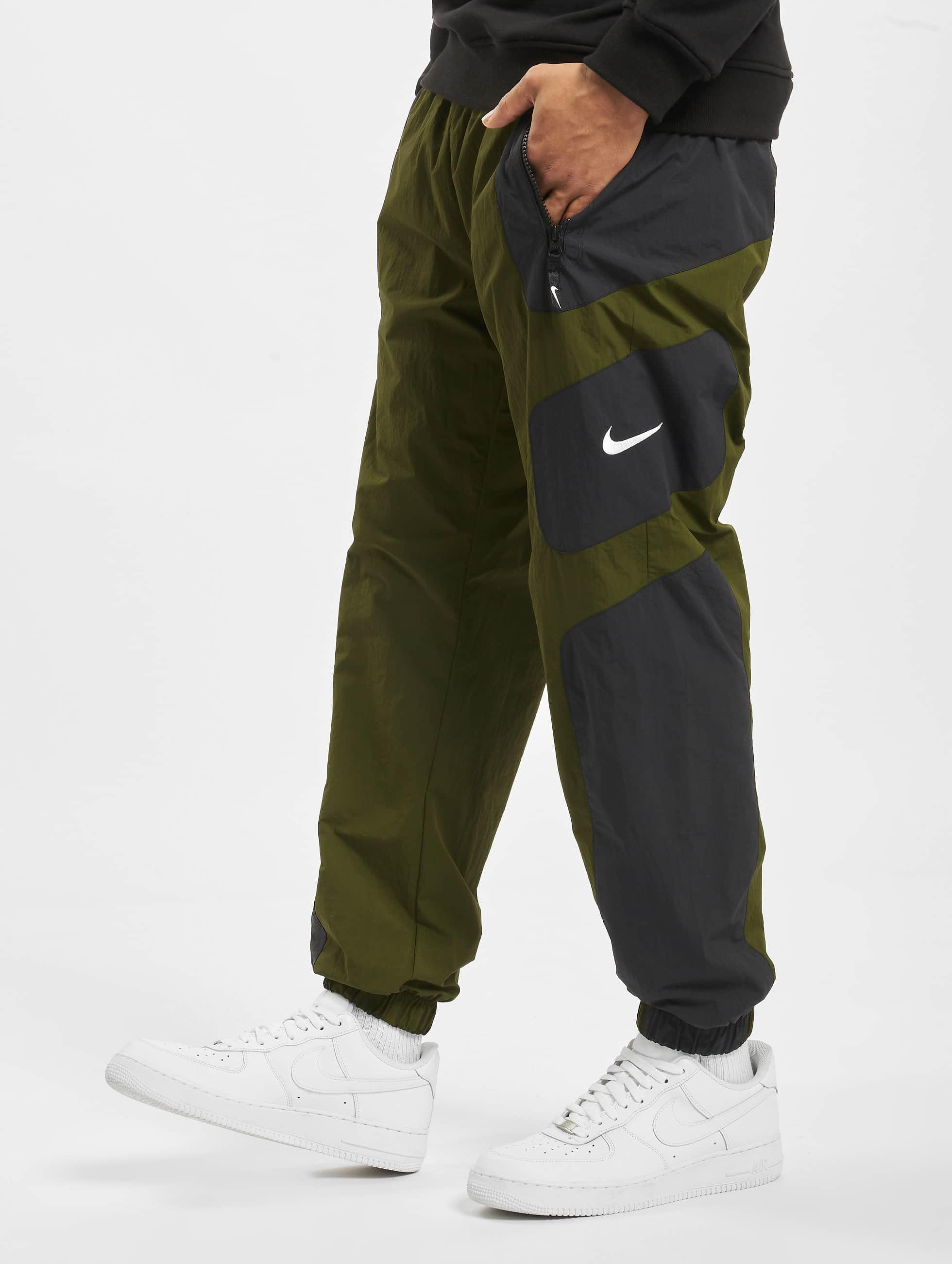 Nike Re Issue Woven Sweat Pants BlackLegion GreenWhite