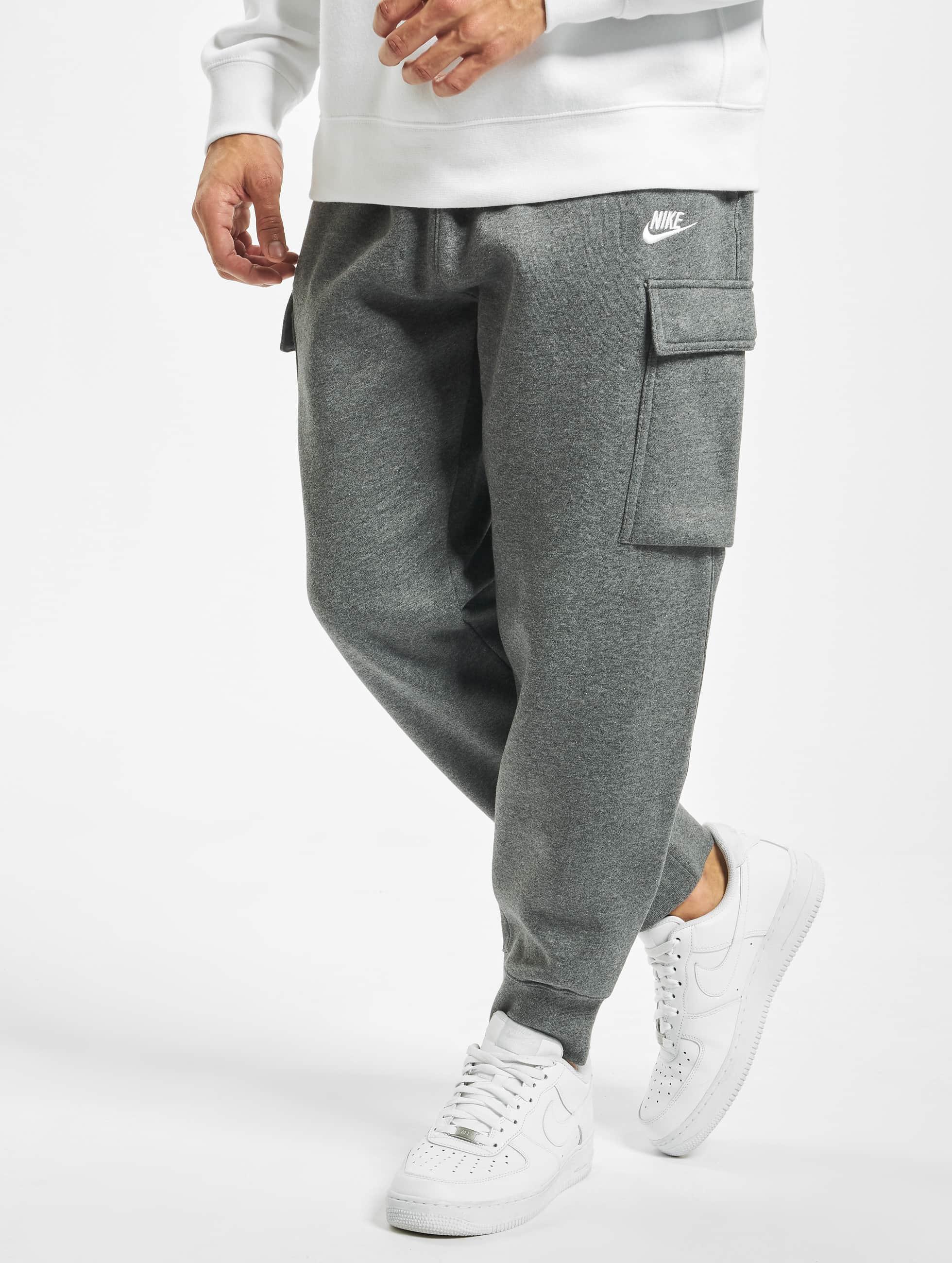 Nike NSW CF FLC Club Sweatpants Dark Grey HeatherWhite