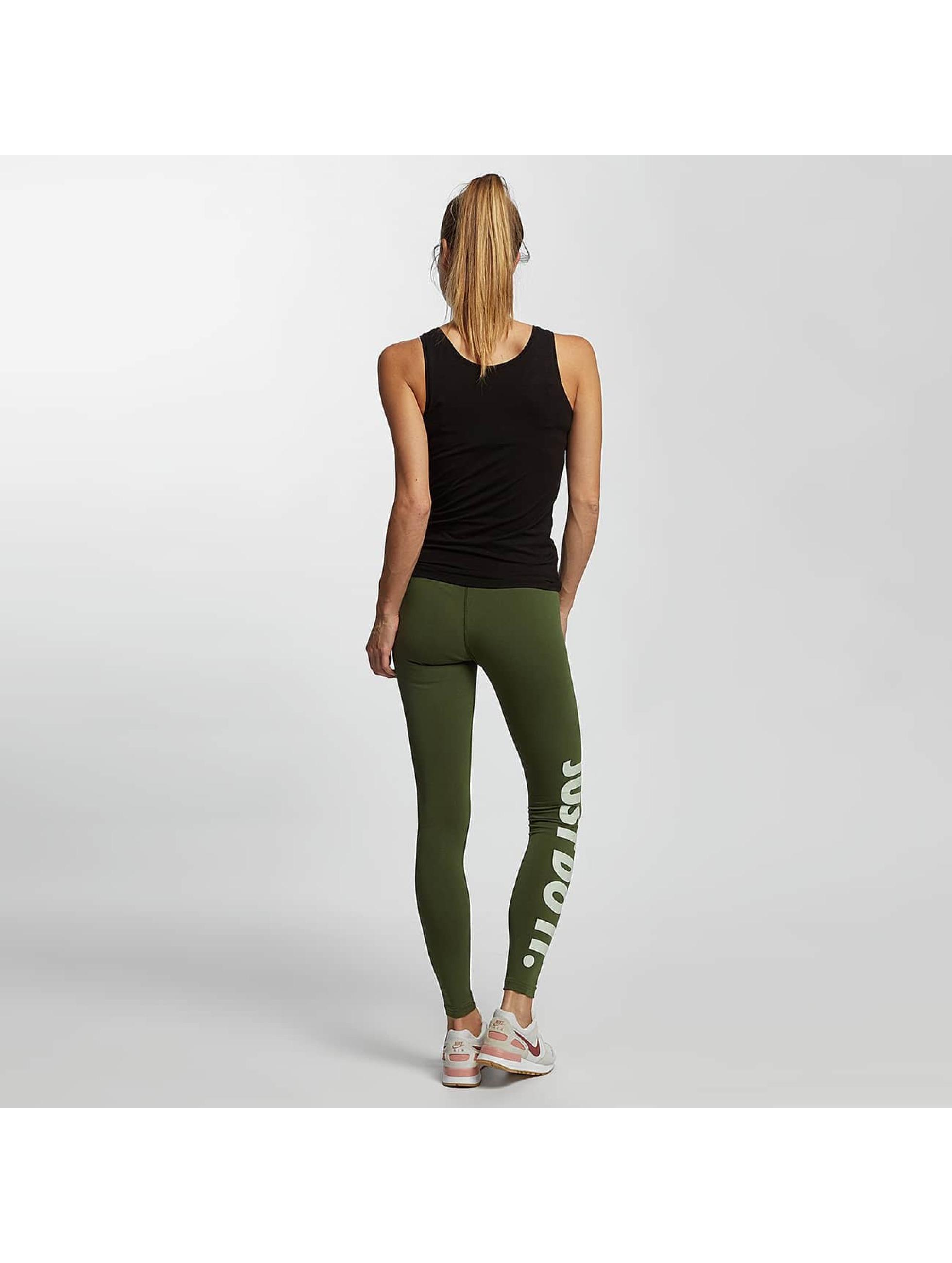 Nike Legíny/Tregíny Just Do It olivová