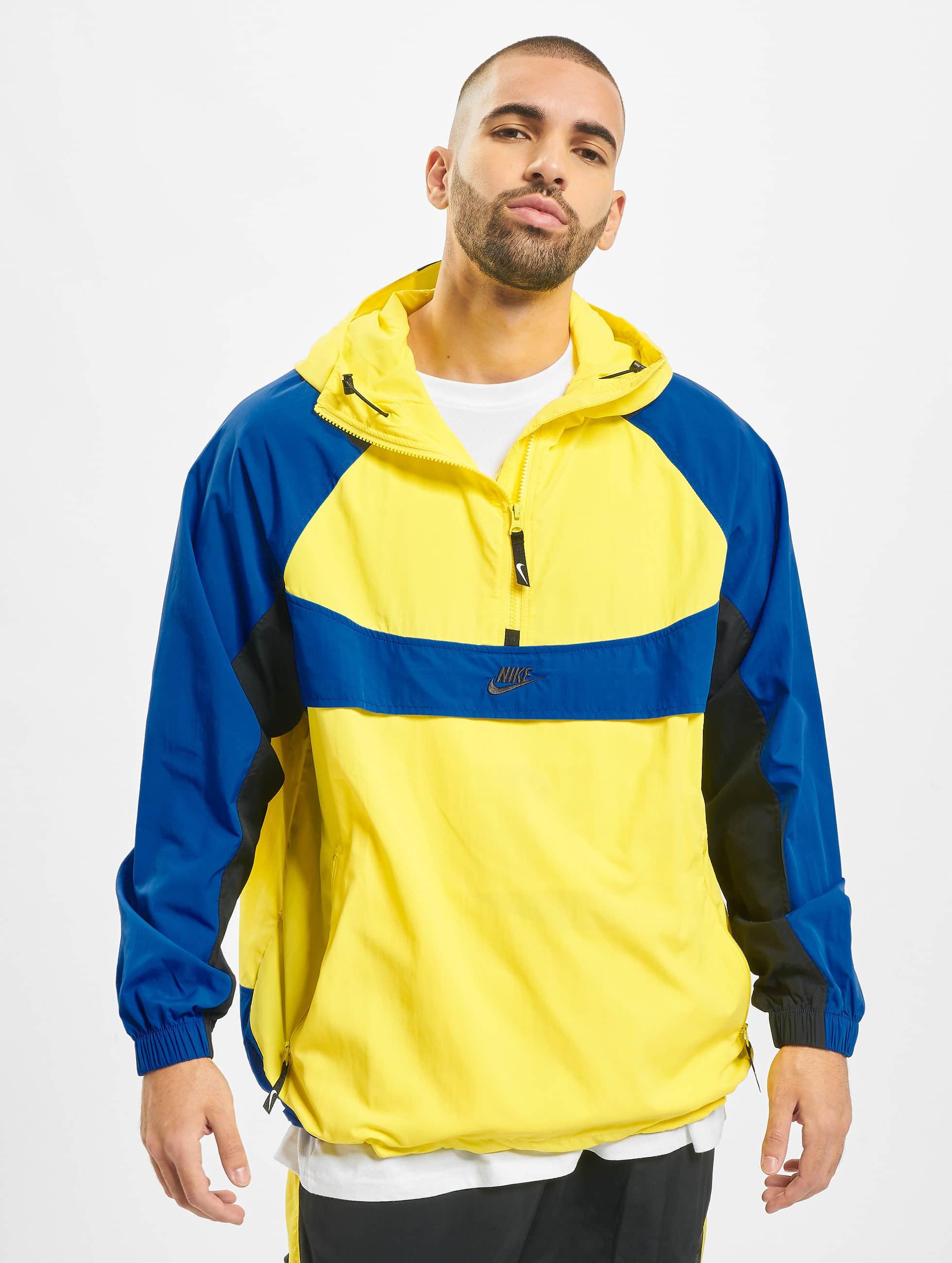 Nike Re Issue HD Woven Jacket Dynamic YellowGame RoyalBlackBlack