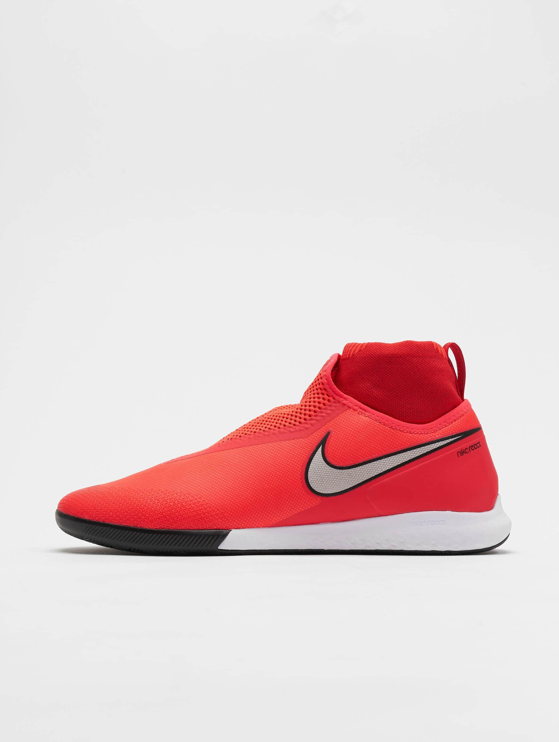 Nike React Phantom Vision Pro DF IC Hallenschuhe Bright CrimsonMetallic Silvern