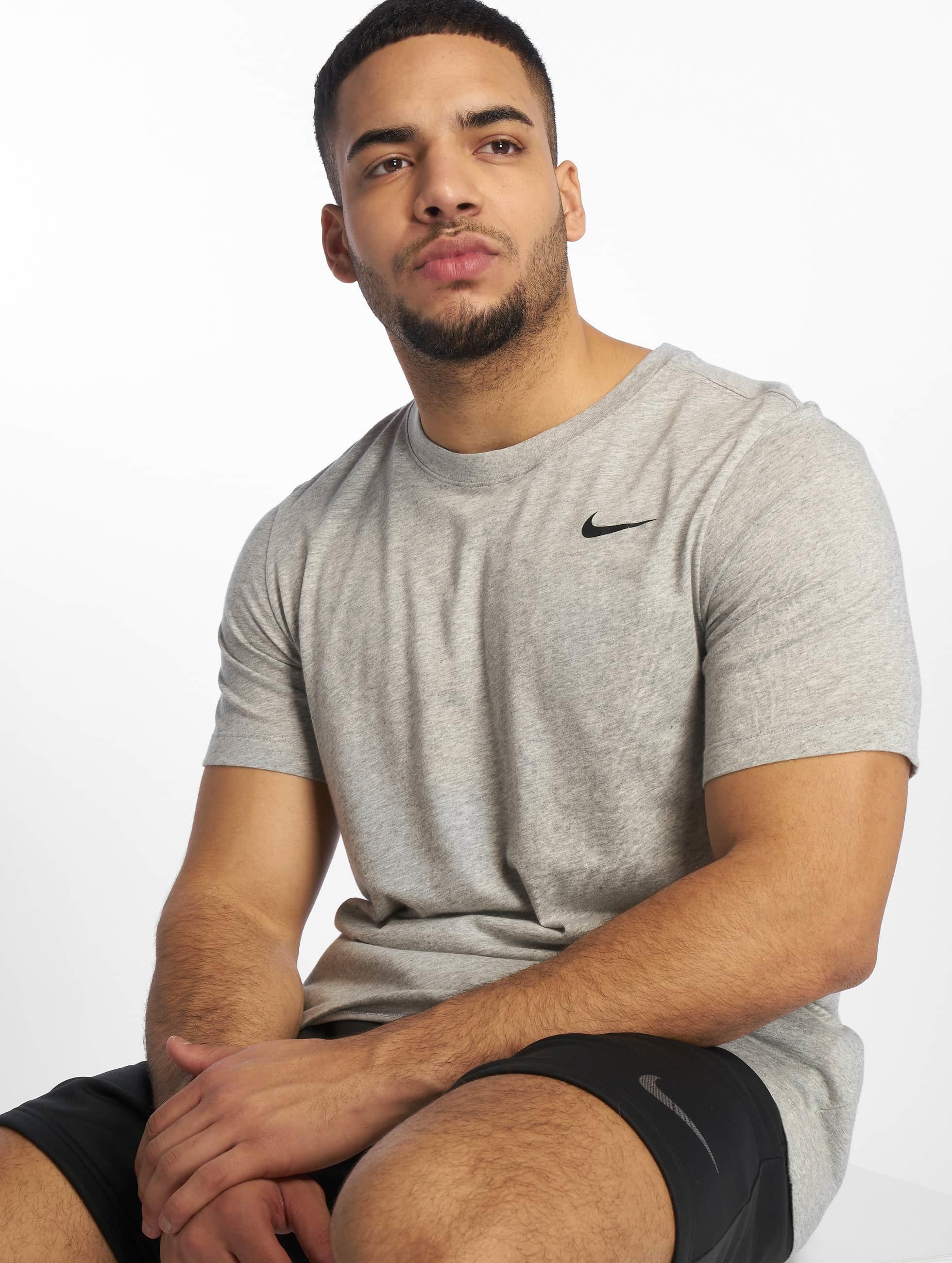 Nike Dri Fit T Shirt Dark Grey HeatherBlack