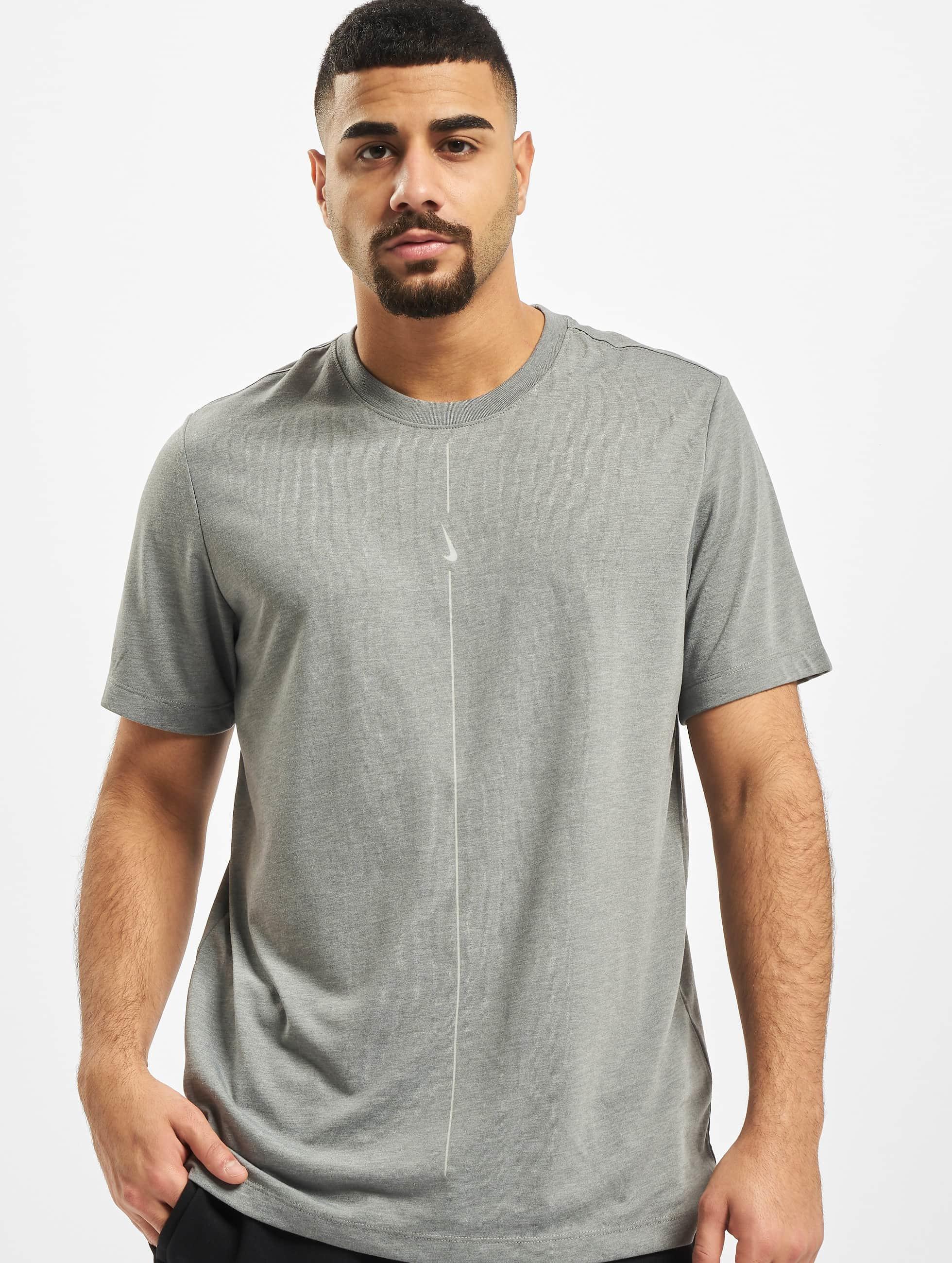 Nike Dry DB Yoga T Shirt Iron GreyLt Smoke Grey