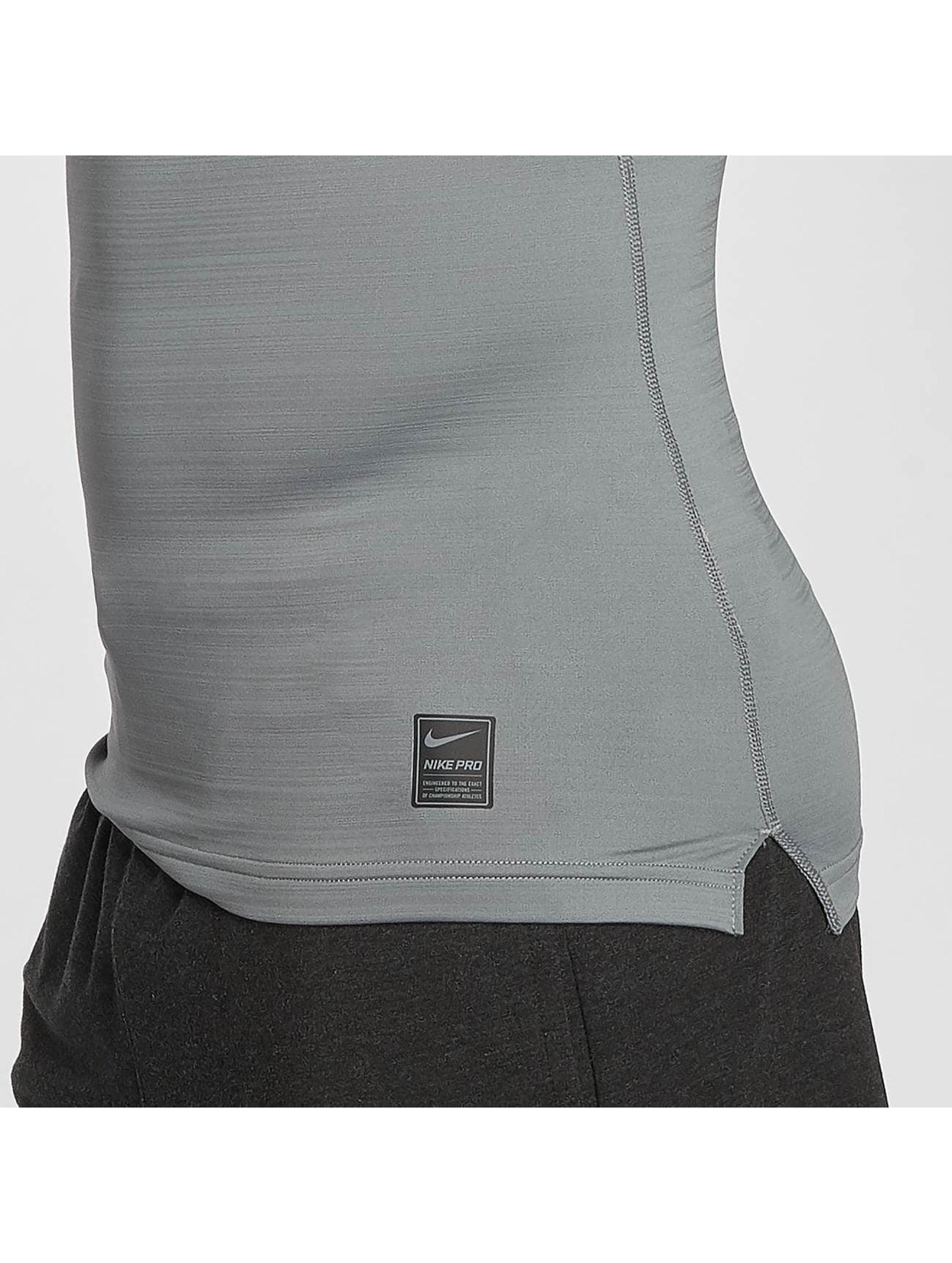 Nike Performance T-Shirt manches longues Pro Warm gris