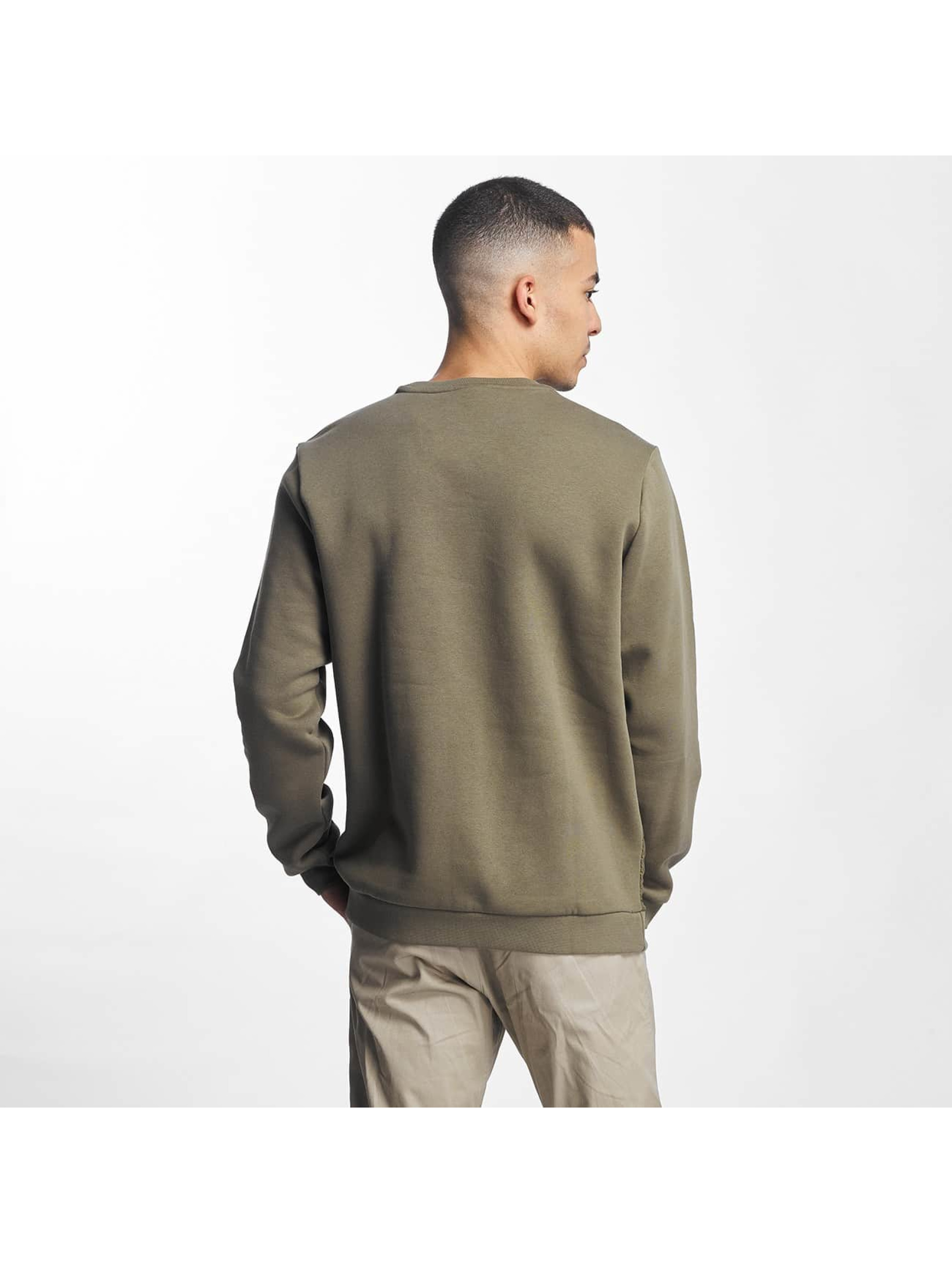 nike herren pullover crew fleece hybrid in olive 336082. Black Bedroom Furniture Sets. Home Design Ideas