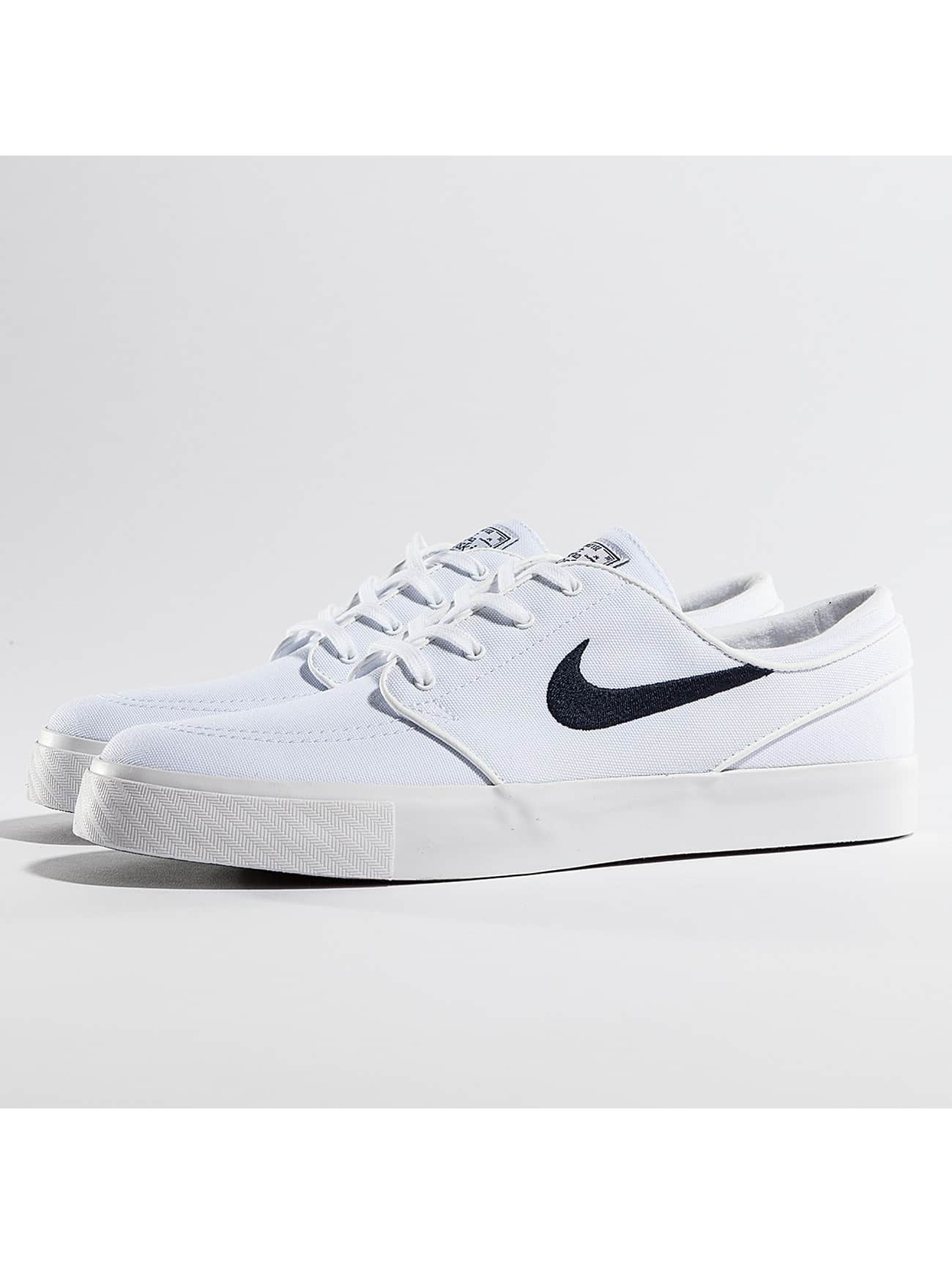 nike sb zoom stefan janoski canvas blanc homme baskets 305967. Black Bedroom Furniture Sets. Home Design Ideas