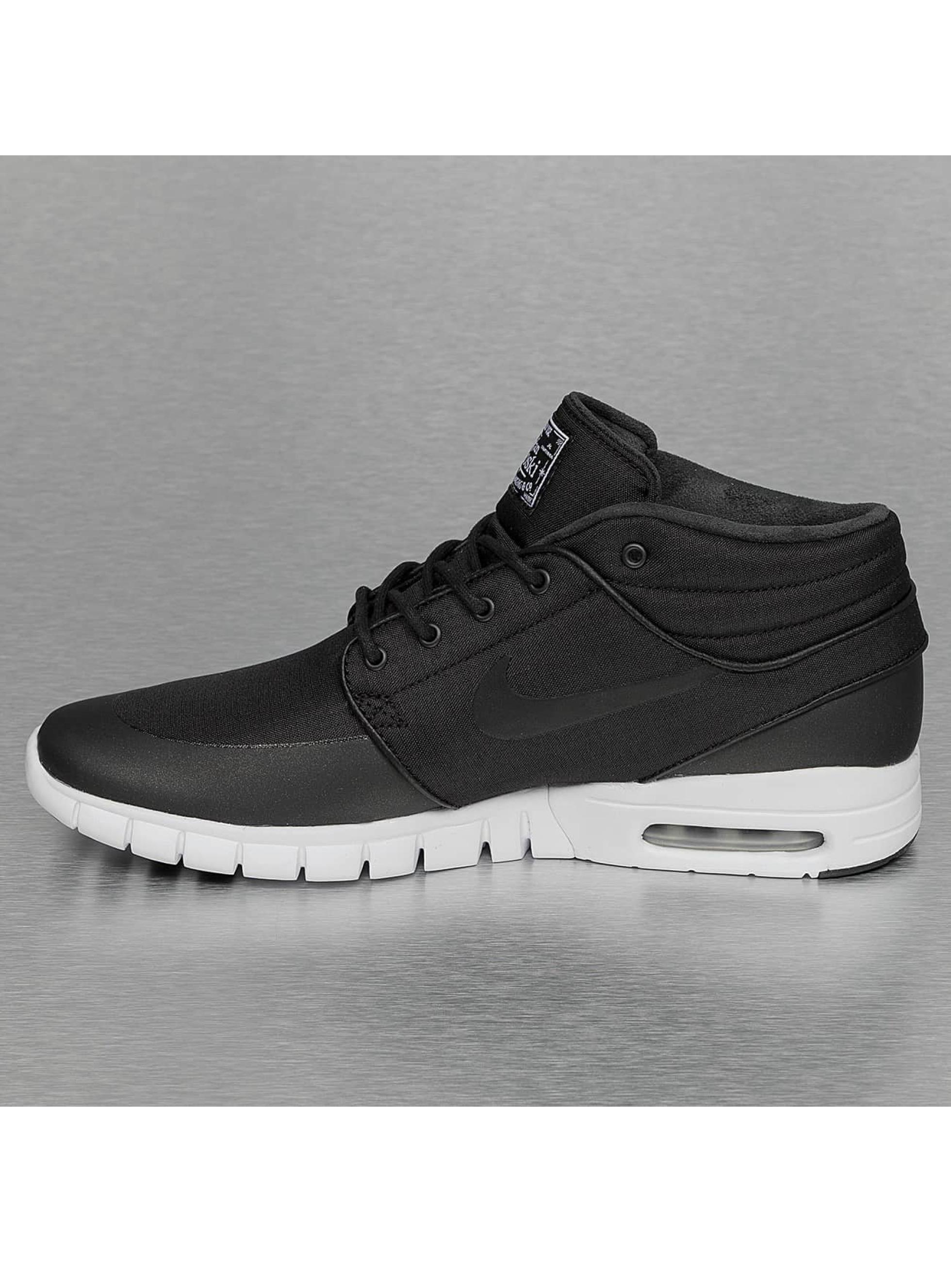 nike sb herren sneaker stefan janoski max mid in schwarz. Black Bedroom Furniture Sets. Home Design Ideas