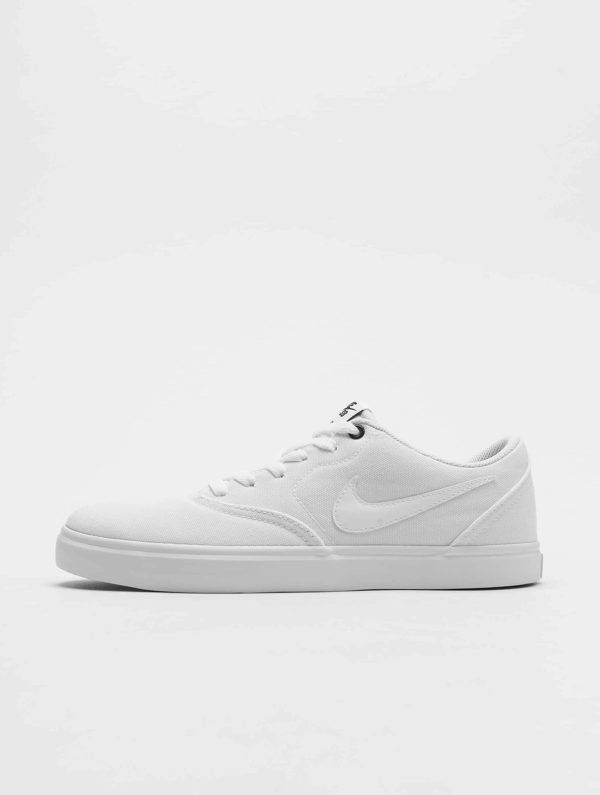 new products various design purchase cheap Nike SB Check Solar Canvas Sneakers White/White/Black