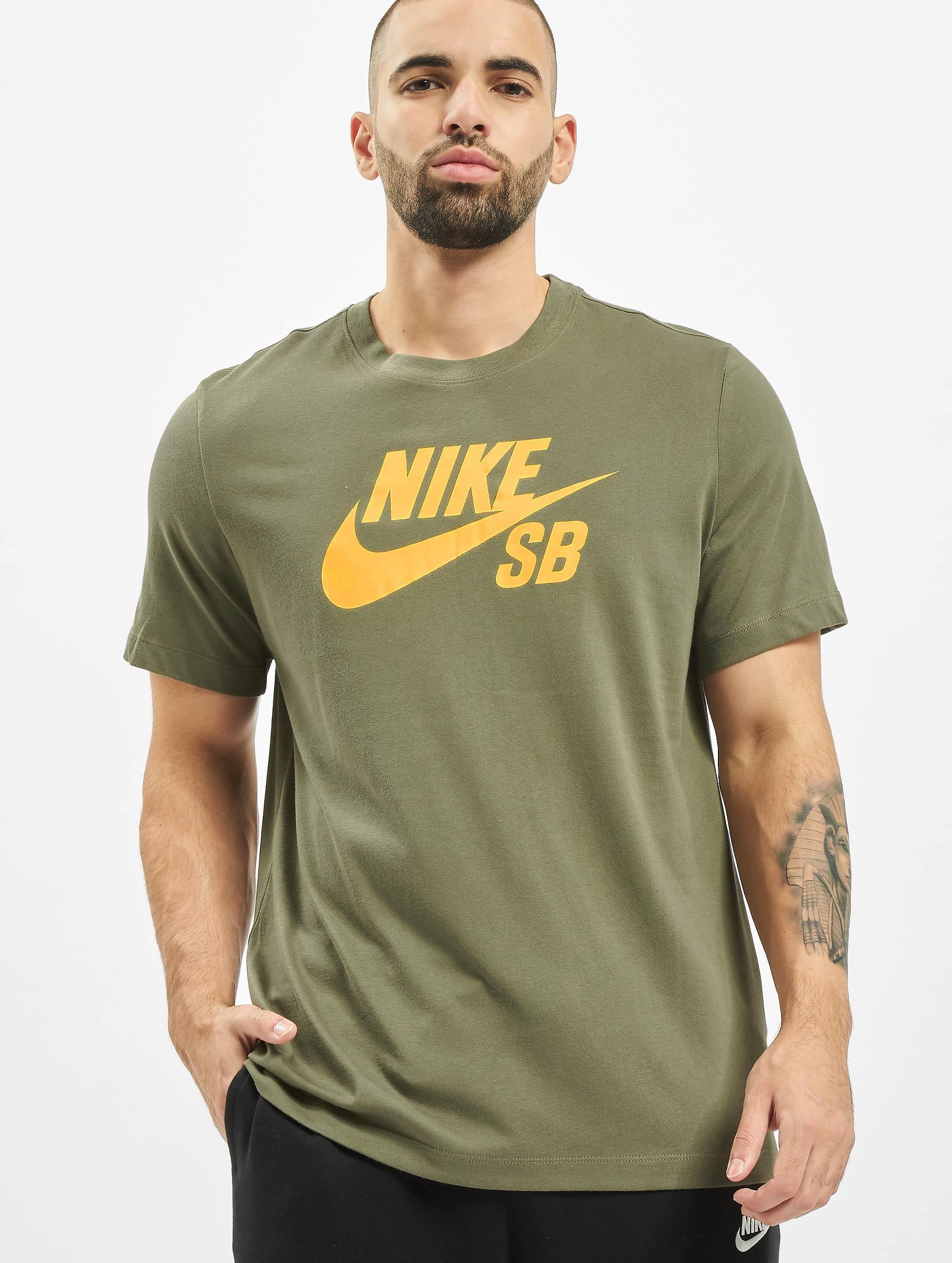 Nike SB Dry Logo T Shirt Medium OliveDark Sulfur