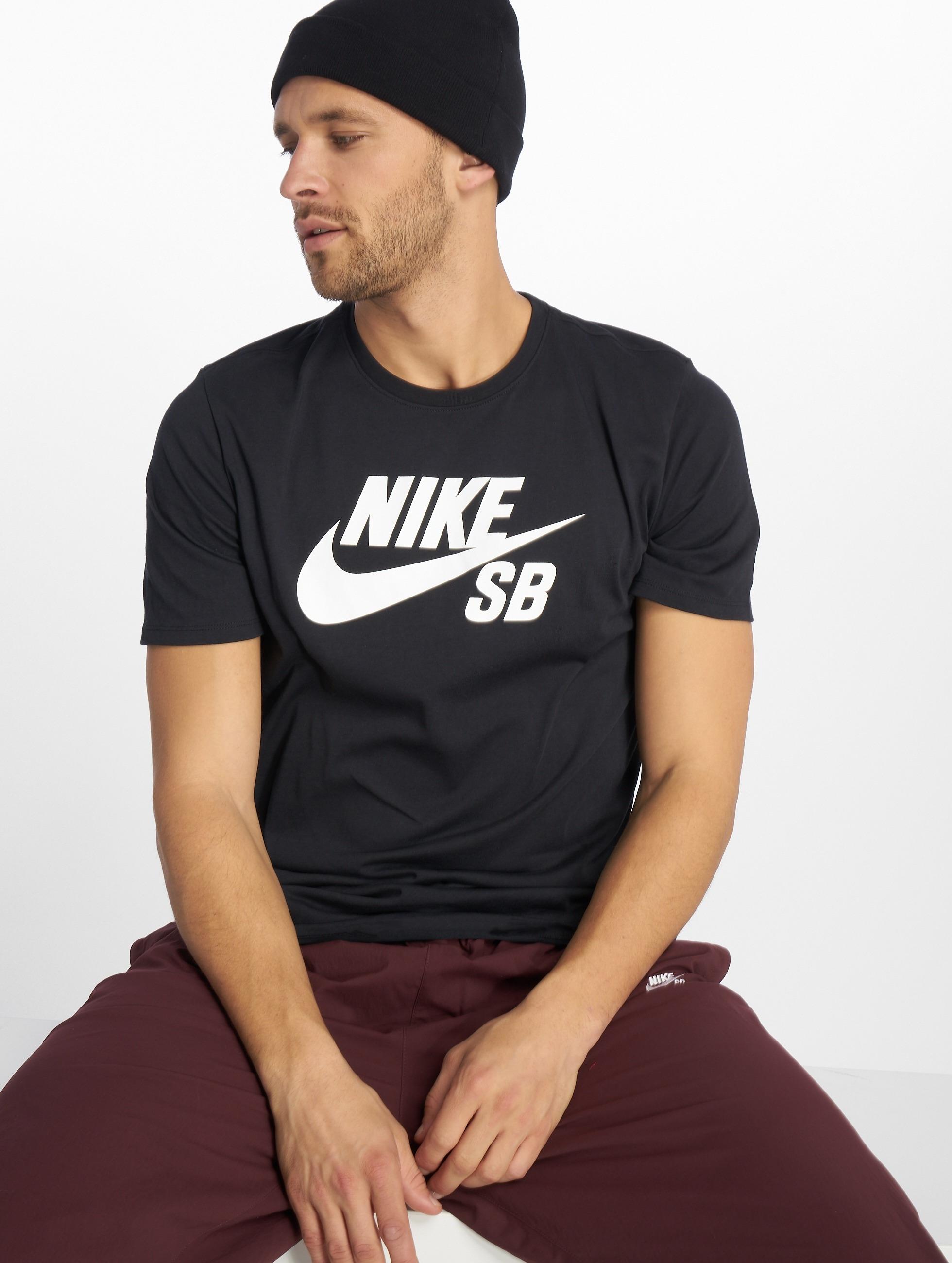 Nike SB t-shirt SB Logo zwart
