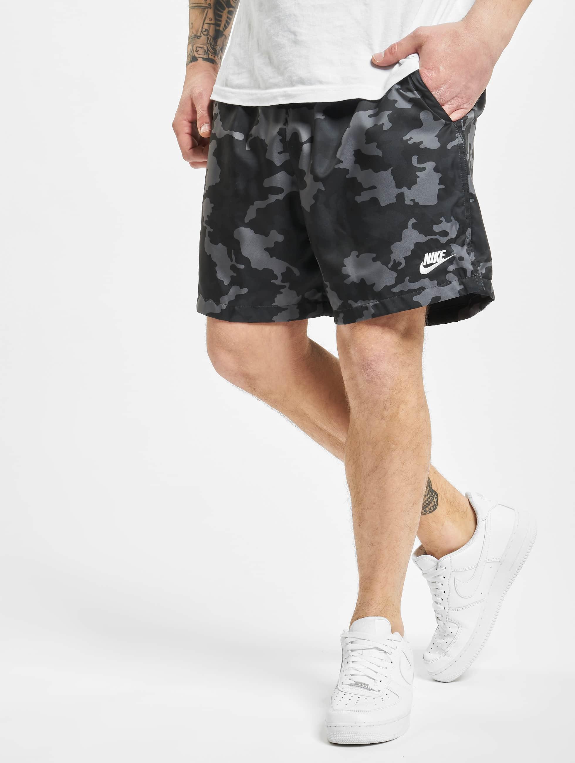 Nike Woven Flow Camo Shorts BlackBlackSmoke GreyWhite
