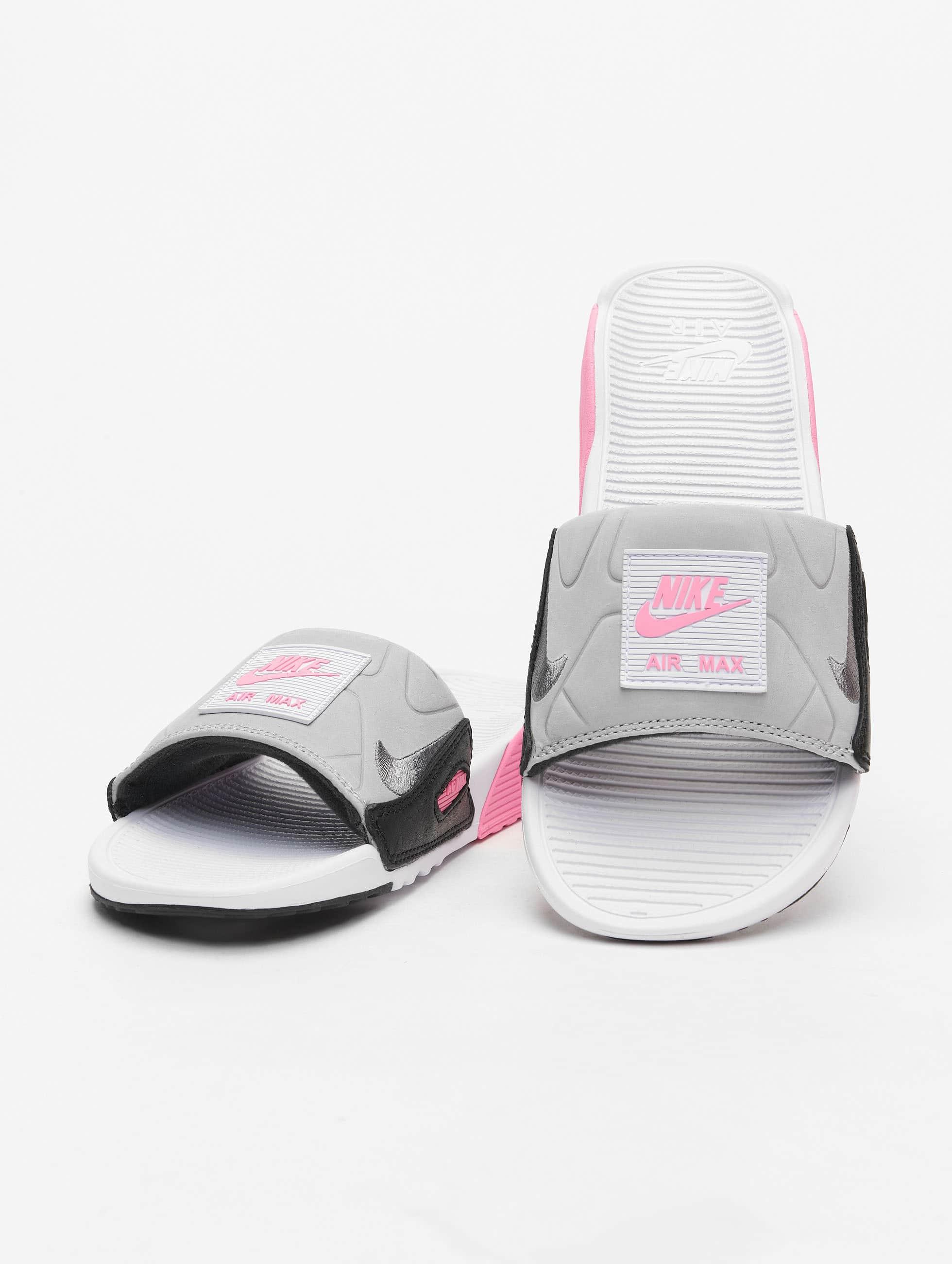 Nike Air Max 90 Slides WhiteSmoke GreyRoseLt Smoke Grey
