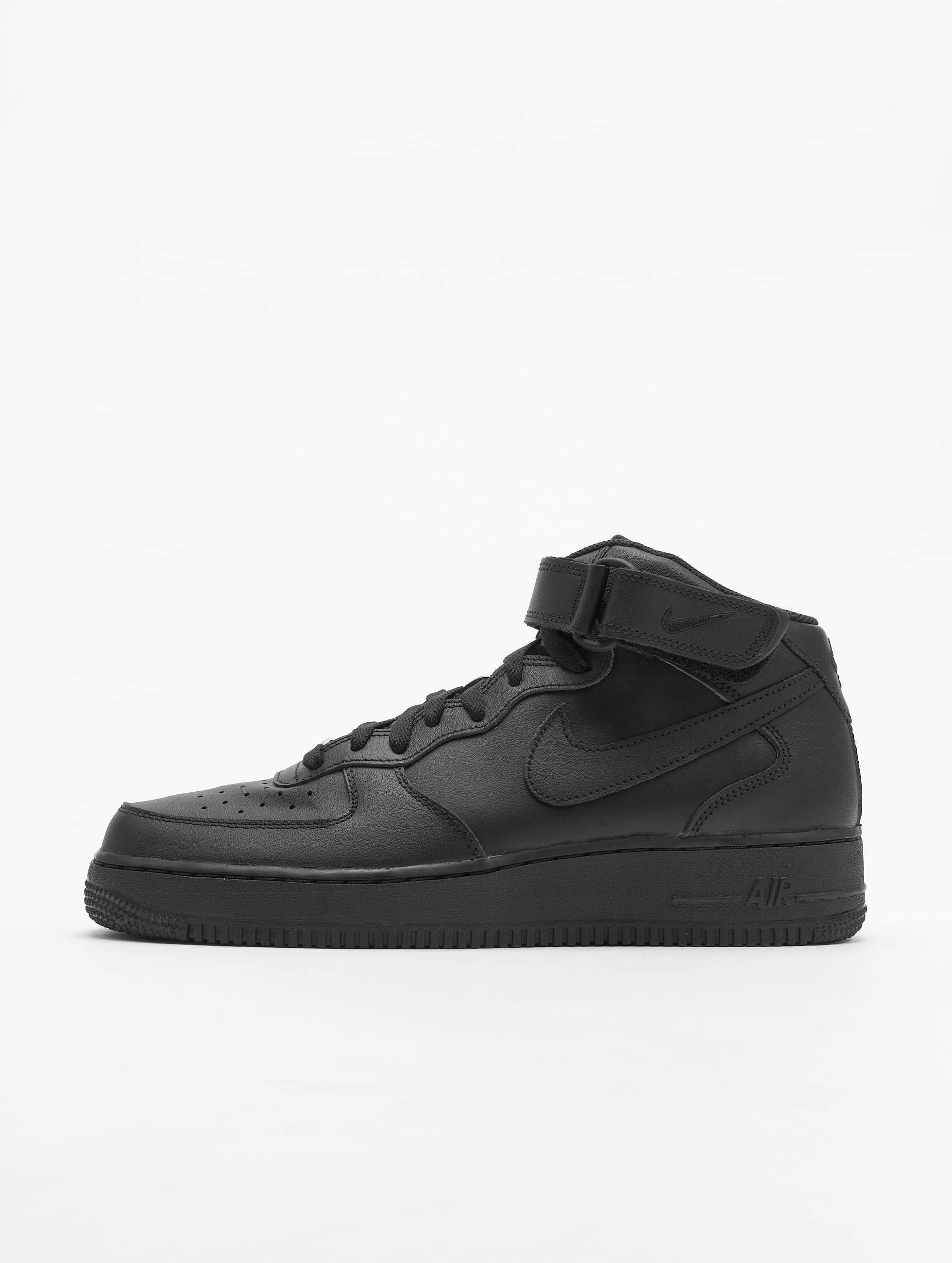 nike herren sneaker air force 1 mid 39 07 basketball shoes in schwarz 23210. Black Bedroom Furniture Sets. Home Design Ideas