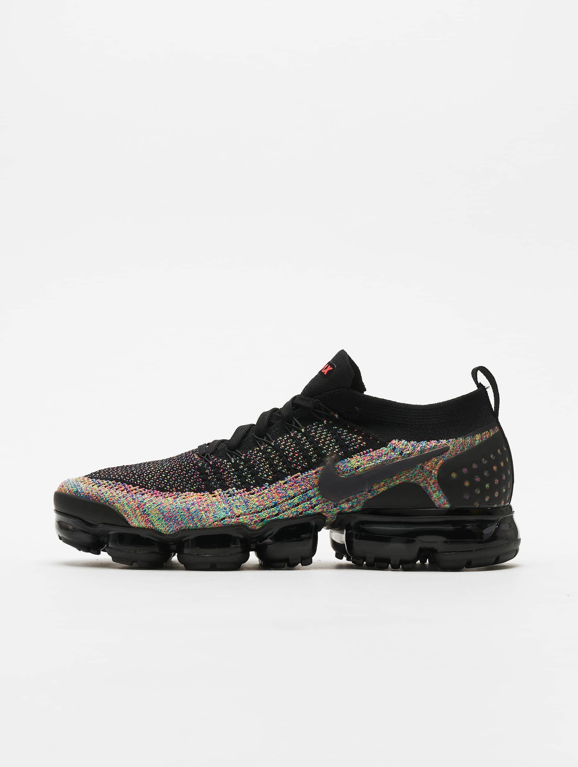 Nike Air Vapormax Flyknit 2 Sneakers Black/Black/Racer Pink/Racer Blue