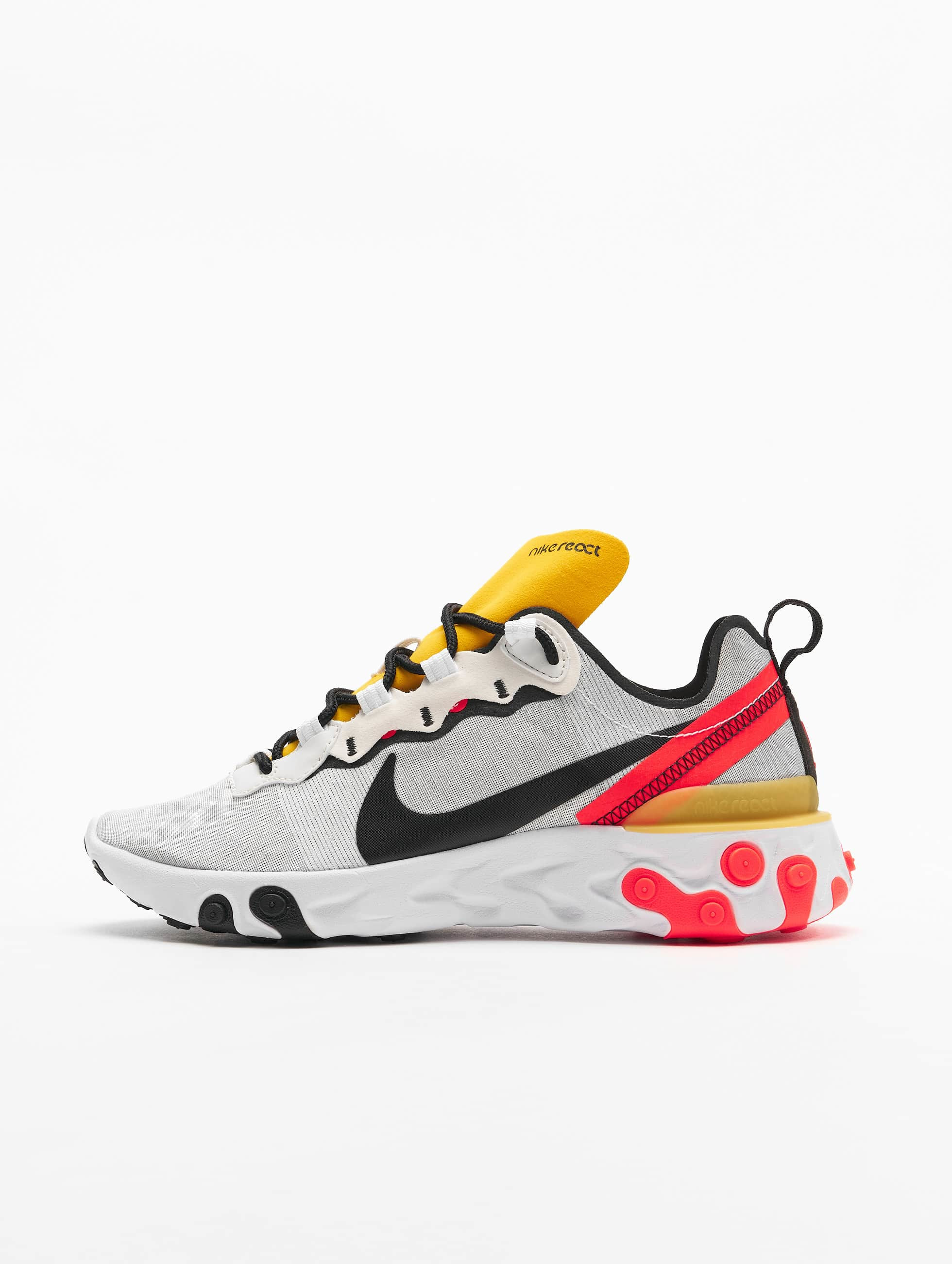 Nike React Element 55 Sneakers WhiteBlackBright Crimson