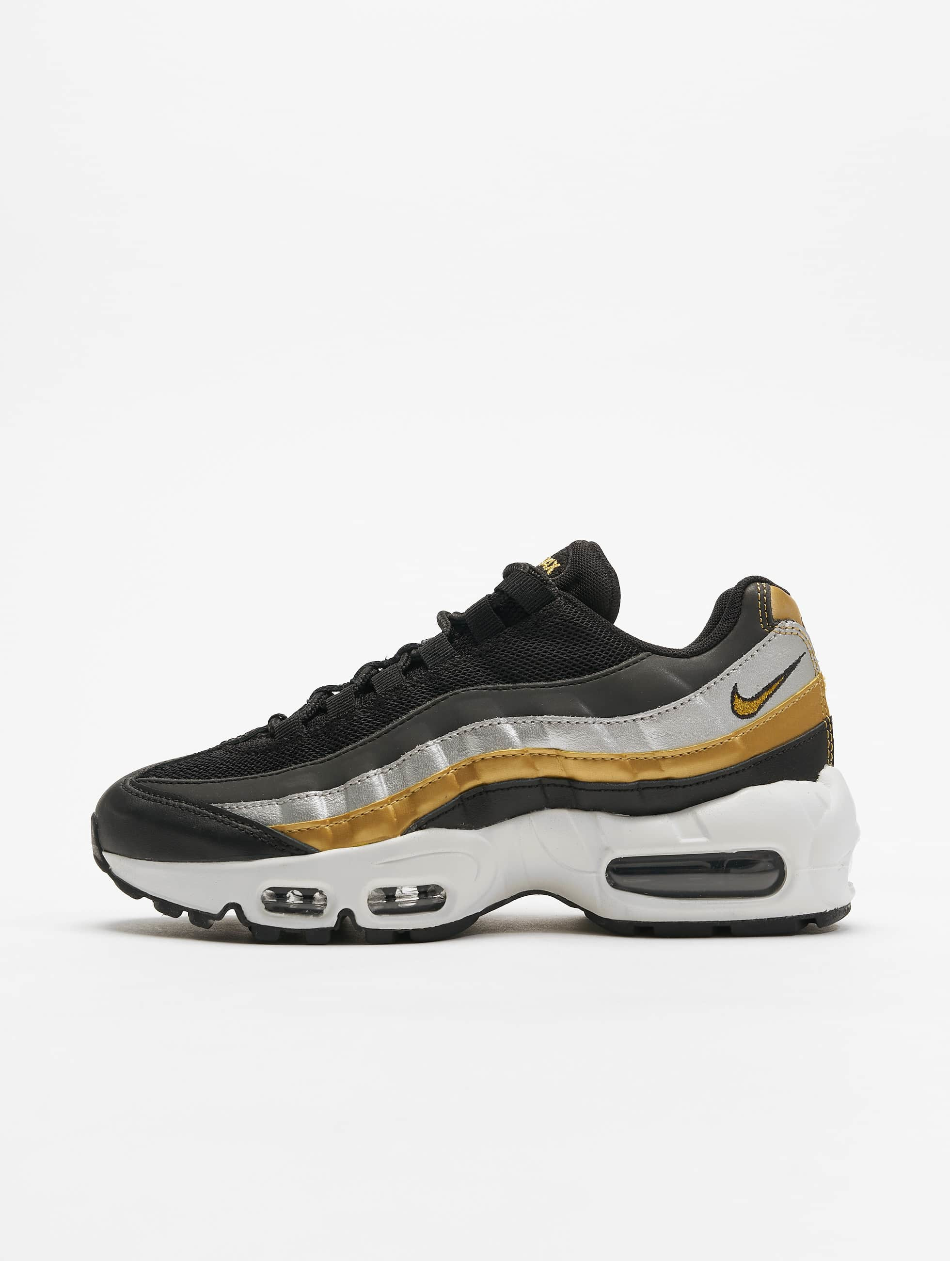 Nike Womens Air Max 95 Sneakers BlackMetallic Golden Metallic Silvern