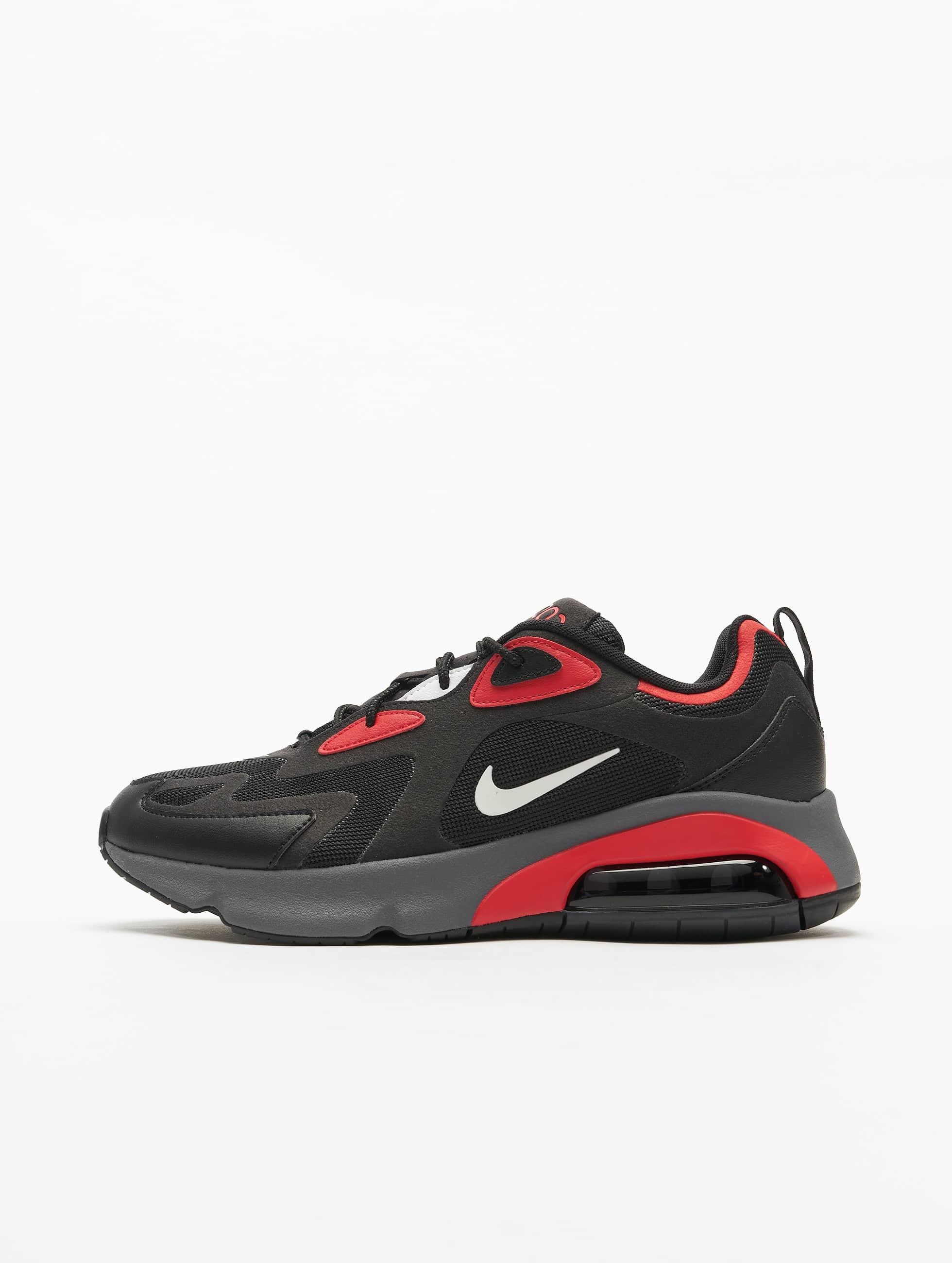 Nike Air Max 200 Sneakers BlackWhiteUniversity RedDark Grey