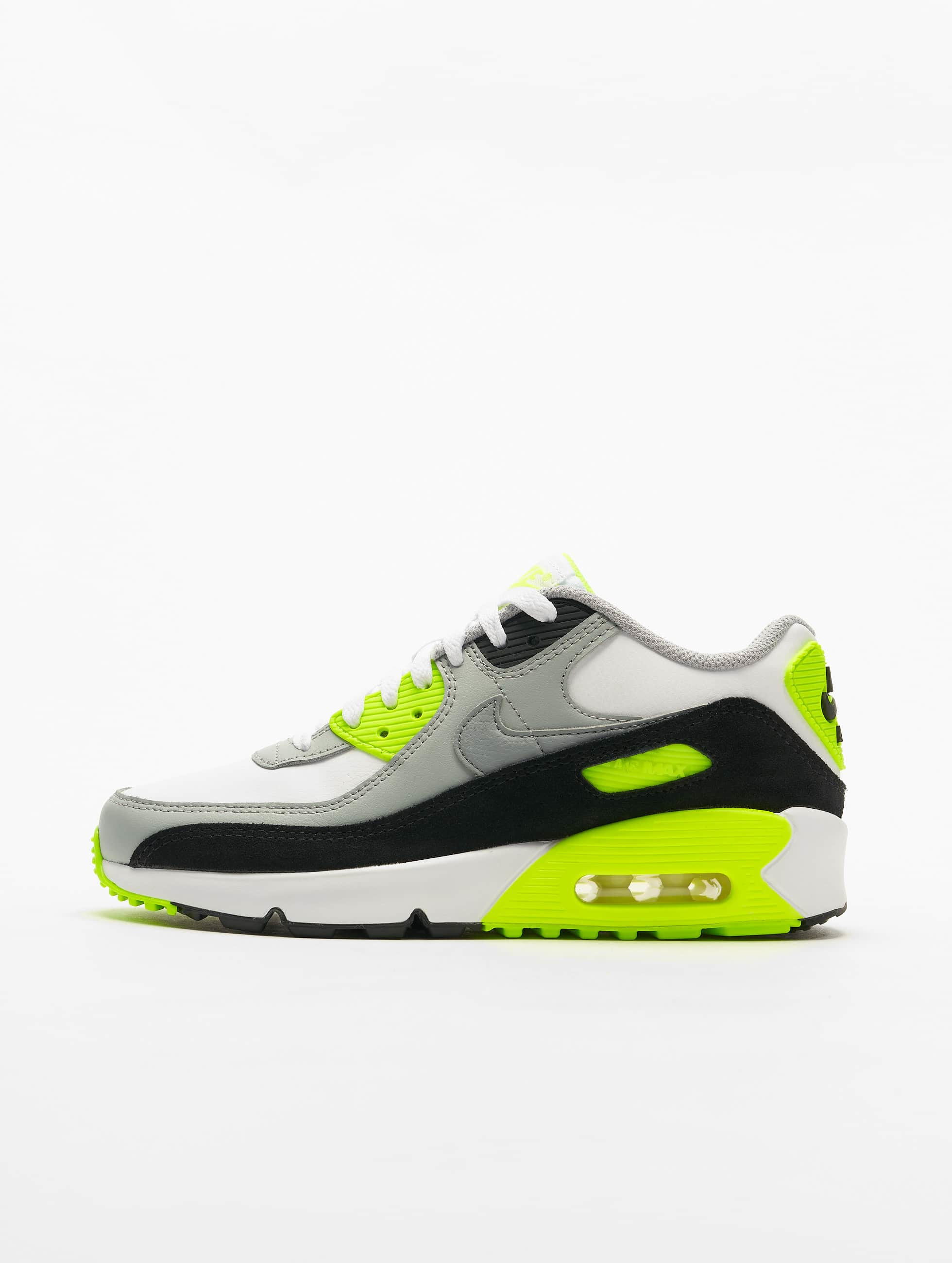 Nike Air Max 90 Ltr (GS) Sneakers WhiteParticle GreyLt Smoke GreyVolt