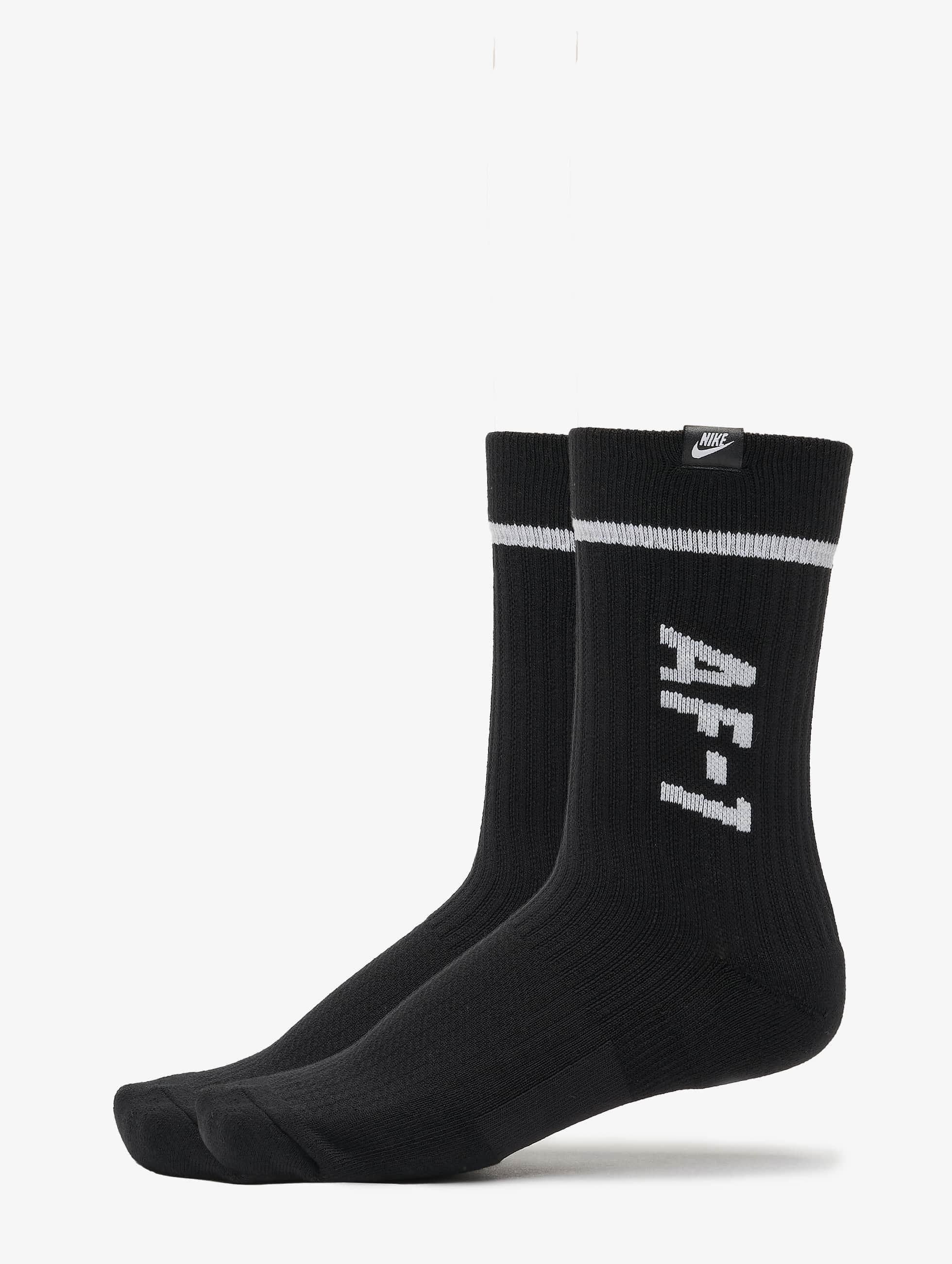 Nike AF1 Crew 2 Pair Socks BlackWhite