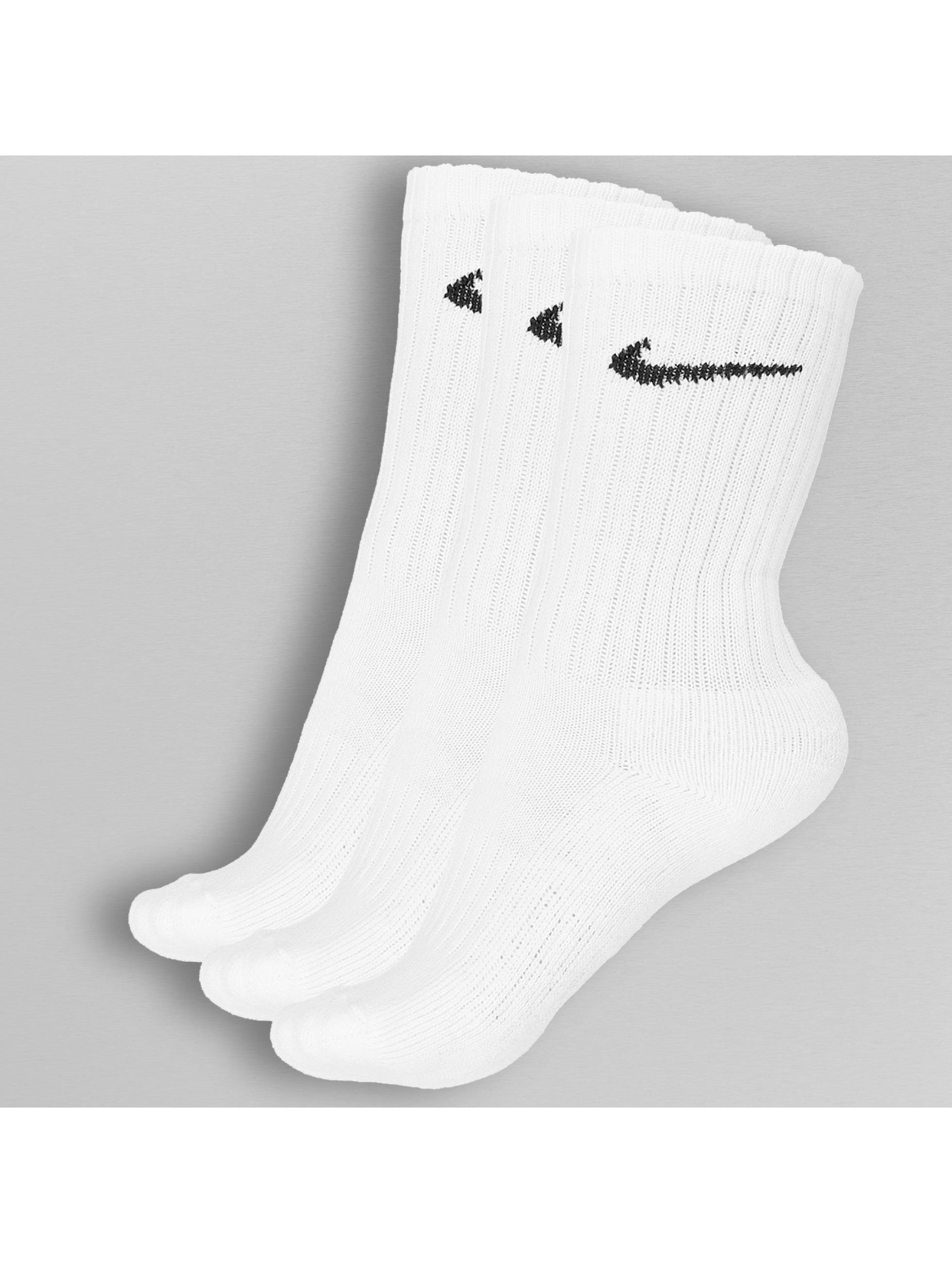 Nike Sukat 3 Pack Value Cotton Crew valkoinen