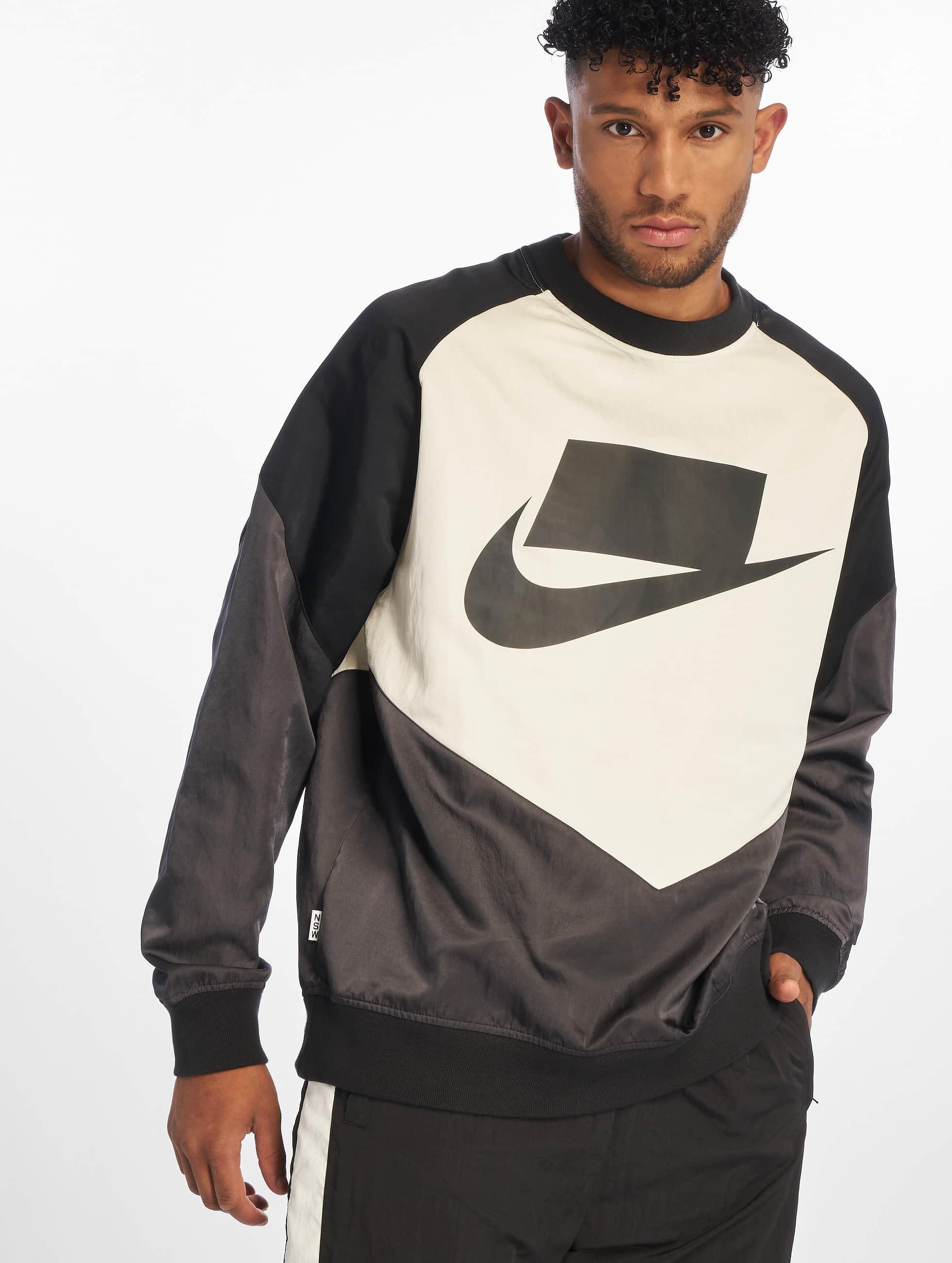 Nike Crew Woven Sweatshirt AnthraciteBlackSailBlack