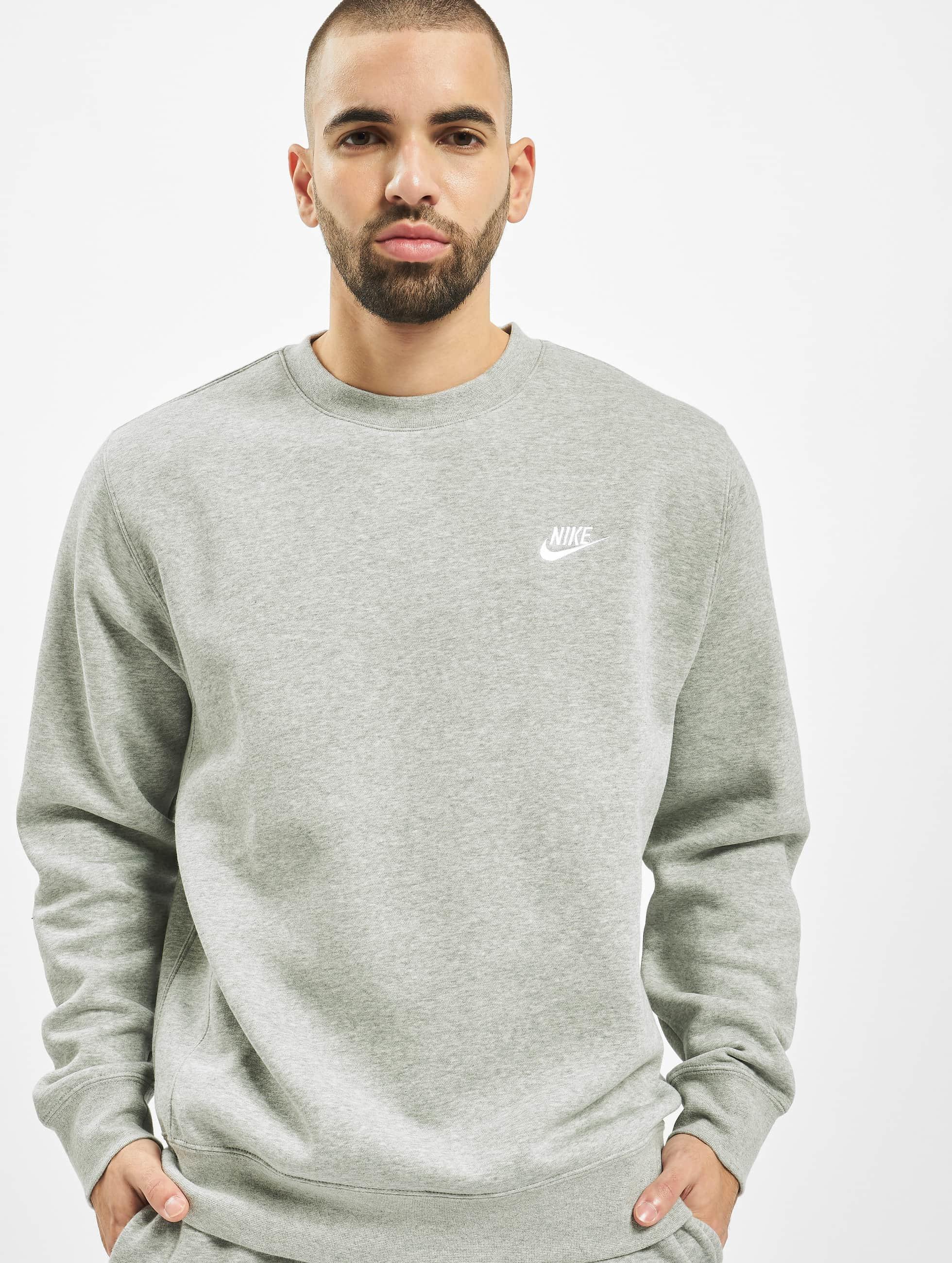 Nike Club Crew Sweatshirt Dark Grey HeatherWhite