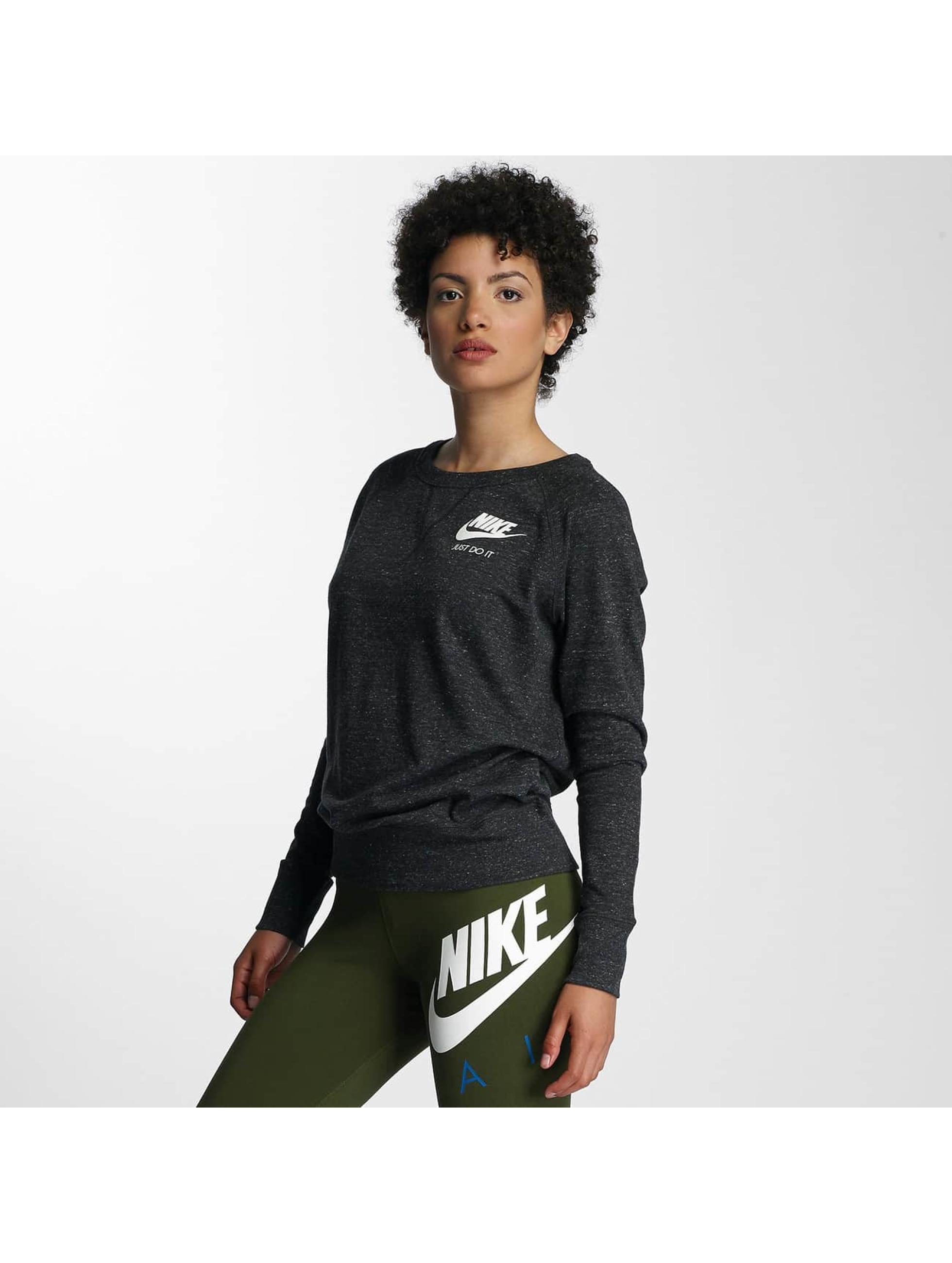 nike sportswear crew noir femme sweat pull nike acheter pas cher haut 309549. Black Bedroom Furniture Sets. Home Design Ideas