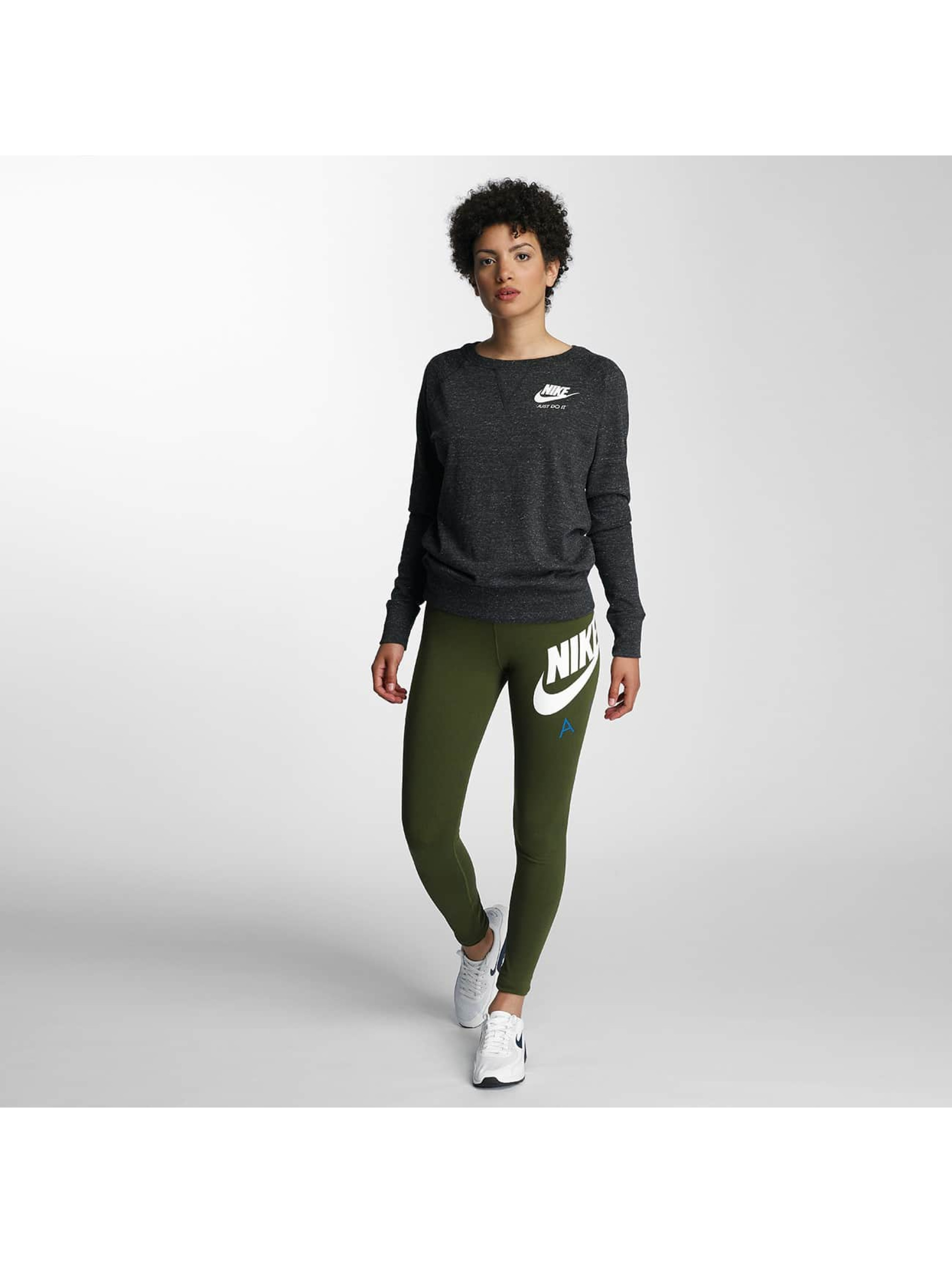 nike sportswear crew noir femme sweat pull nike acheter pas cher haut 309549. Black Bedroom Furniture Sets. Home Design Ideas