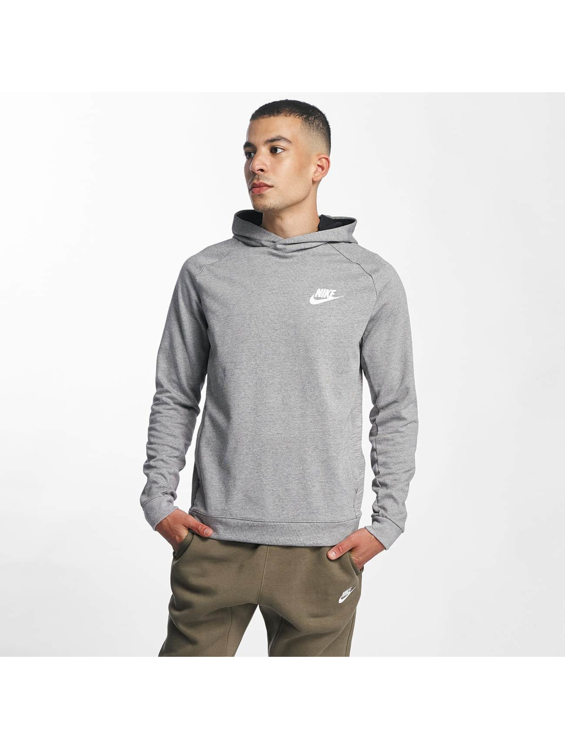 nike av15 fleece gris homme sweat capuche 336140. Black Bedroom Furniture Sets. Home Design Ideas