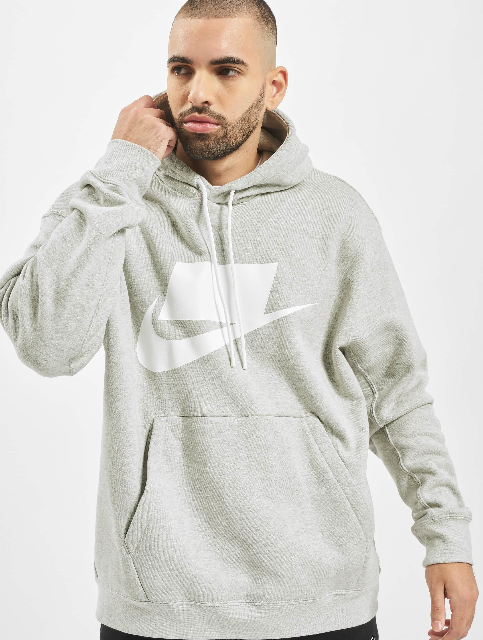 Nike PO FT Hoodie Grey HeatherWhite