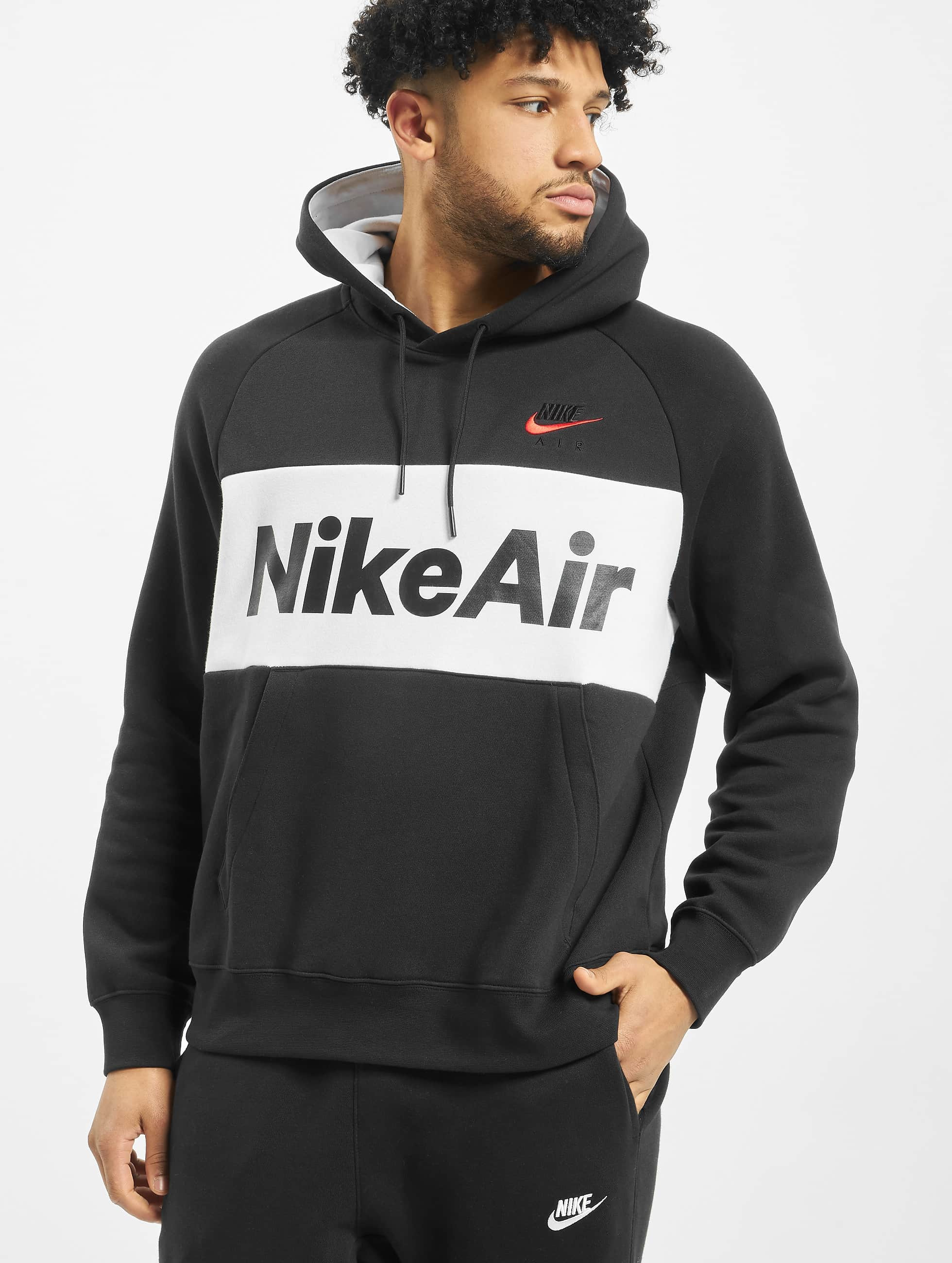 Nike Air Fleece Hoodie BlackWhiteBlackUniversity Red