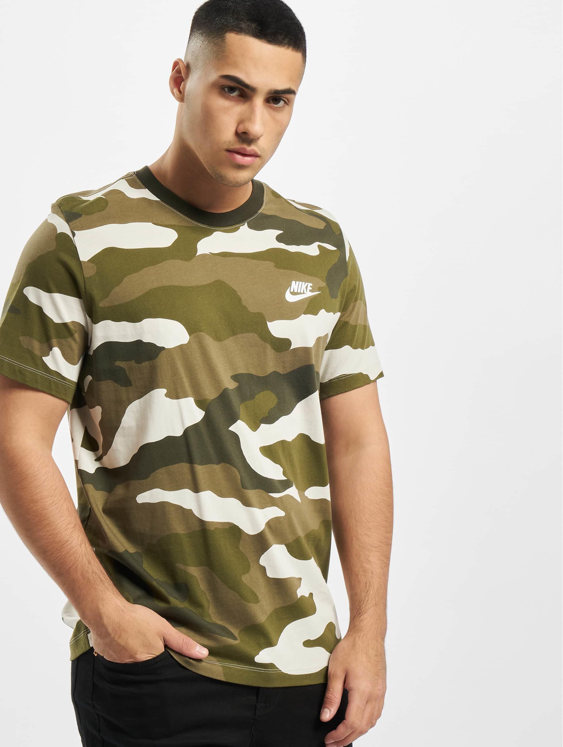 Nike Camo AOP T Shirt Light BoneMedium OliveWhite