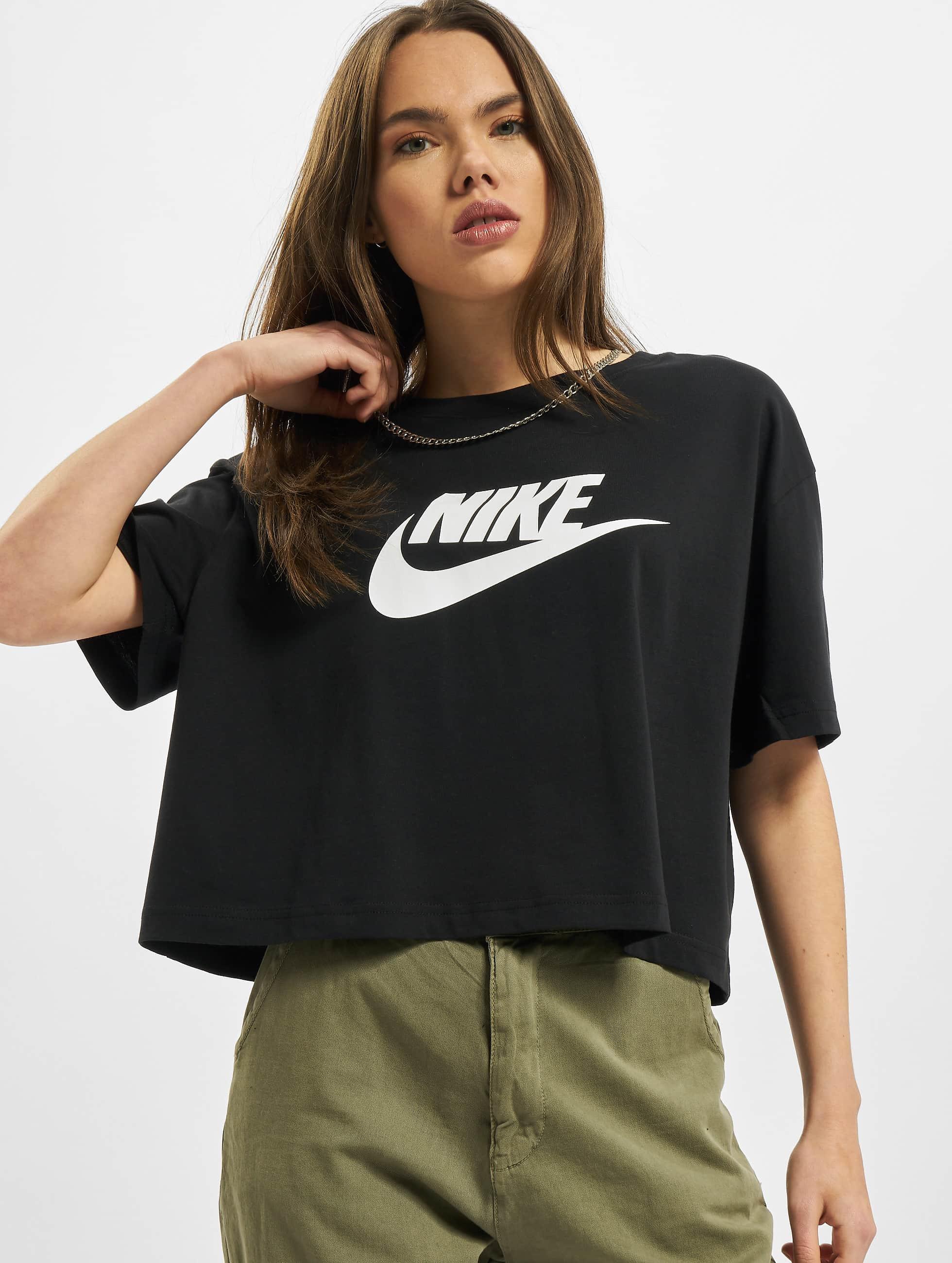 Nike Essential Icon Future Crop Top BlackWhite