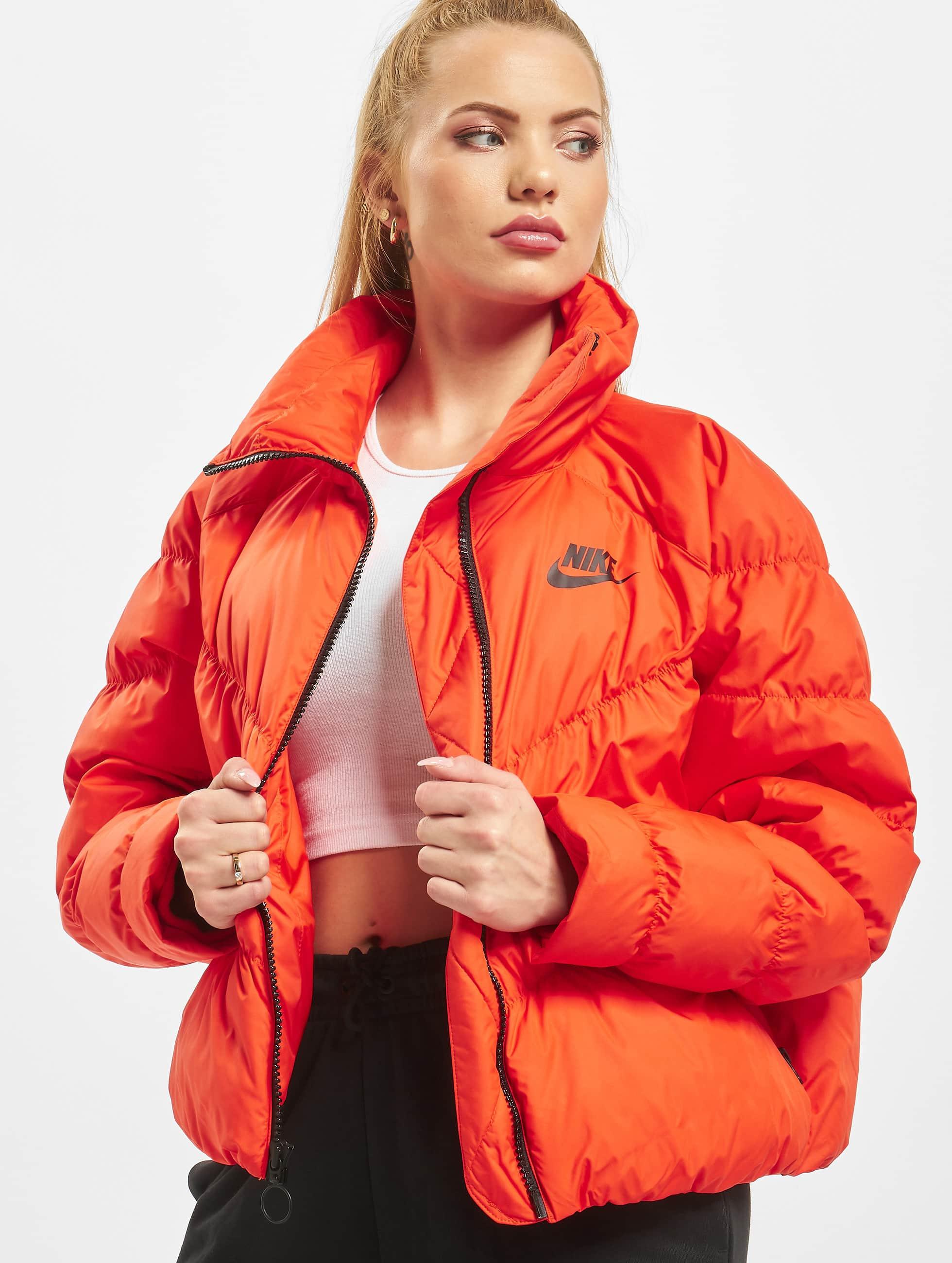 Nike Synthetic Fill Puffer Jacket Team OrangeBlack
