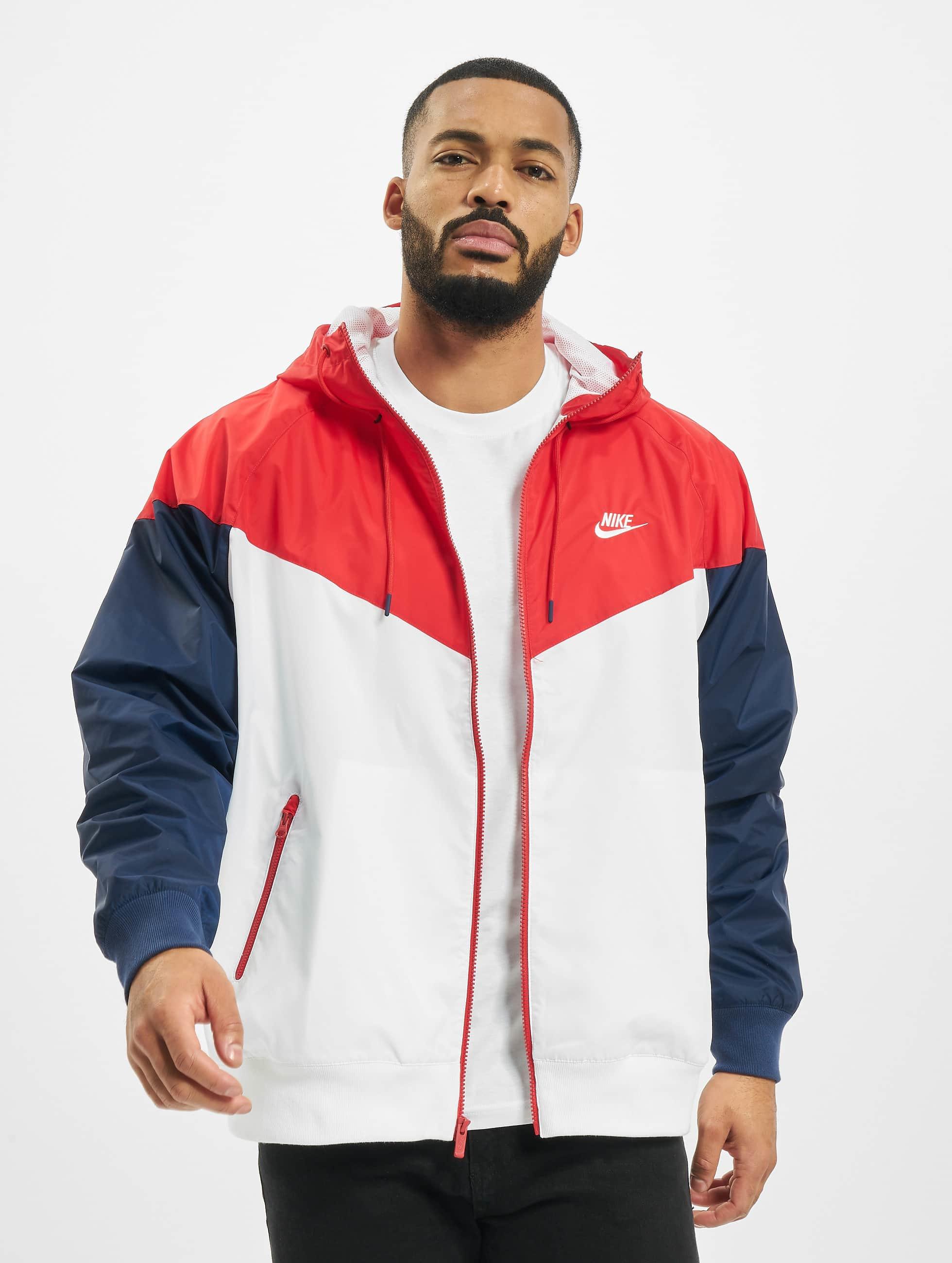 Nike HE Windrunner Jacket HD WhiteUniversity RedMidnight NavyWhite