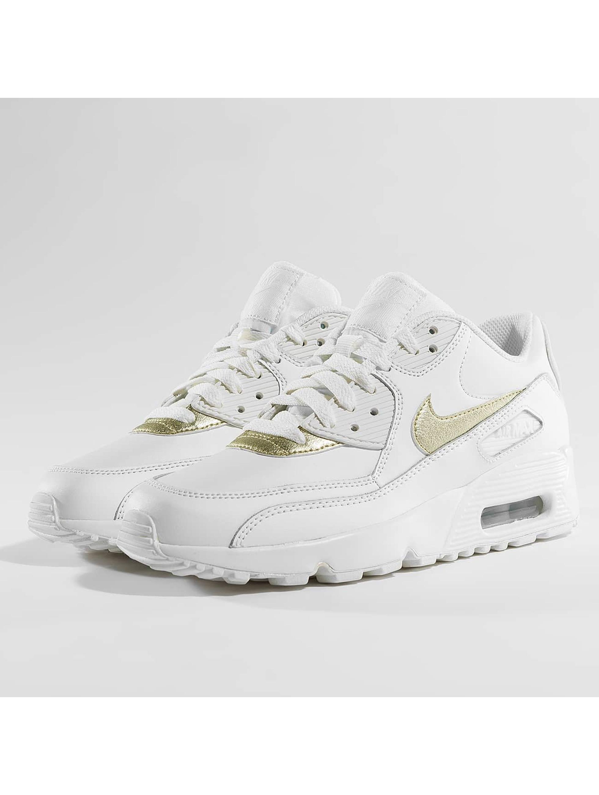 Nike Zapatillas de deporte Air Max 90 Leather (GS) blanco