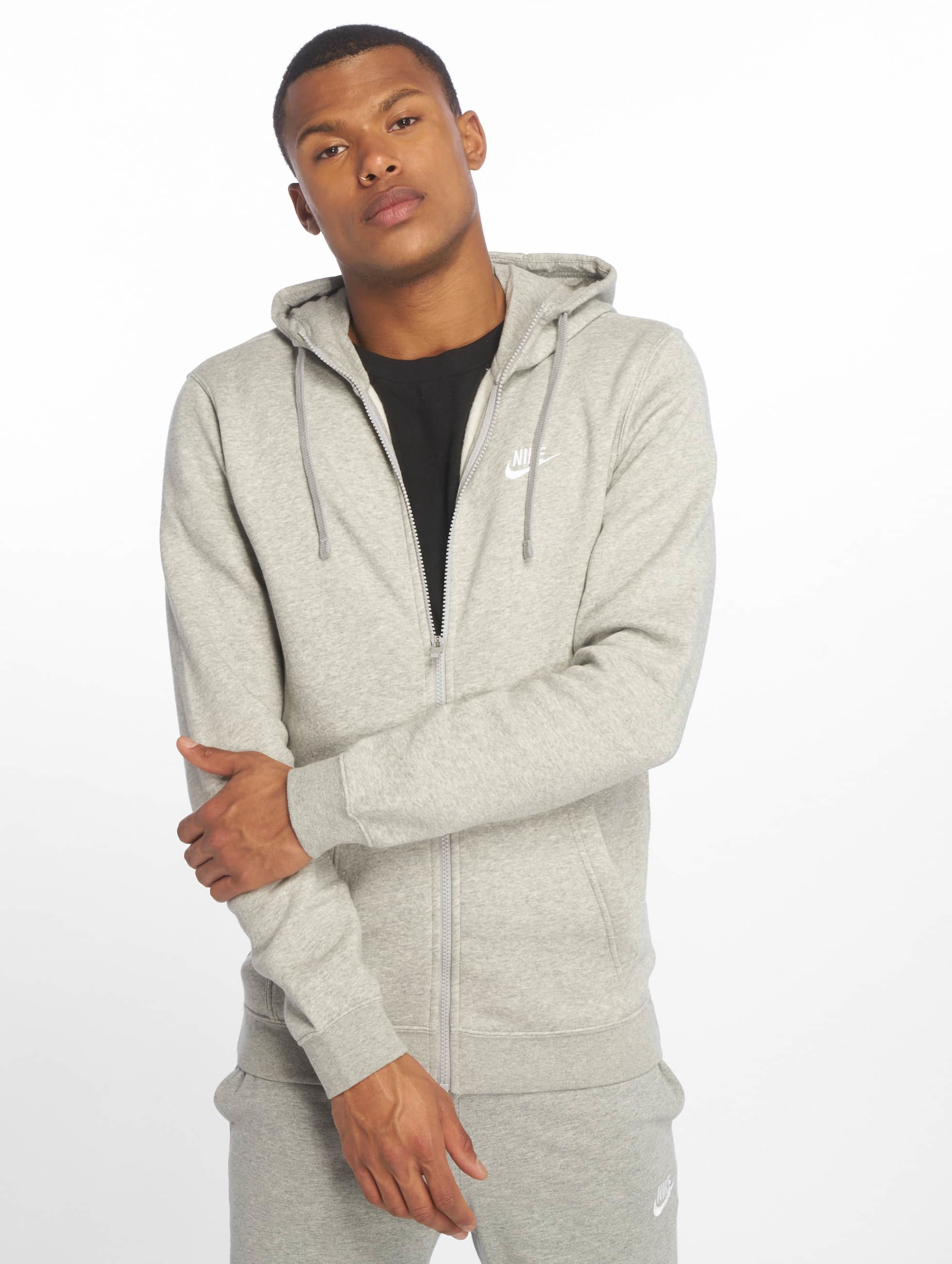 nike herren zip hoodie sportswear in grau 295745. Black Bedroom Furniture Sets. Home Design Ideas