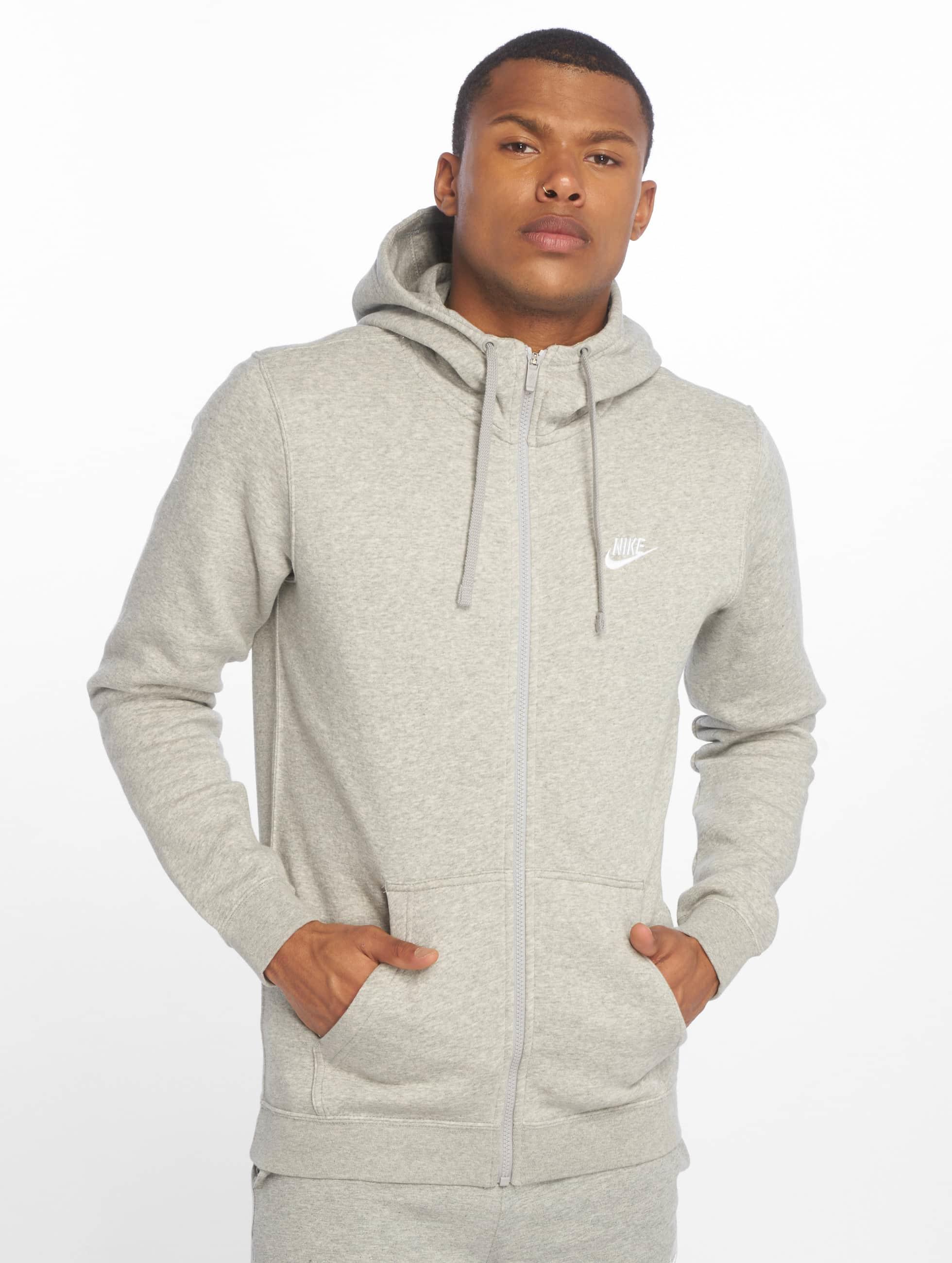 nike herren zip hoodie sportswear in grau 295745. Black Bedroom Furniture Sets. Home Design Ideas