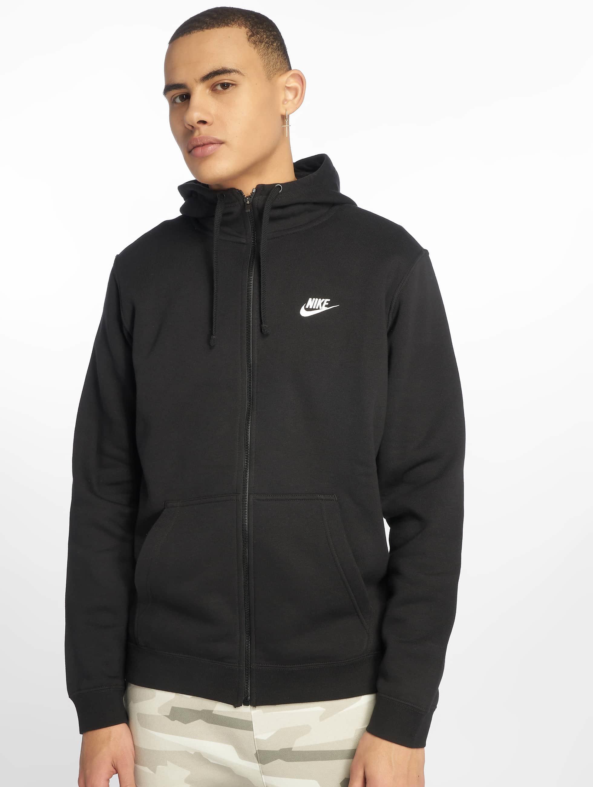 nike herren zip hoodie sportswear in schwarz 295744. Black Bedroom Furniture Sets. Home Design Ideas